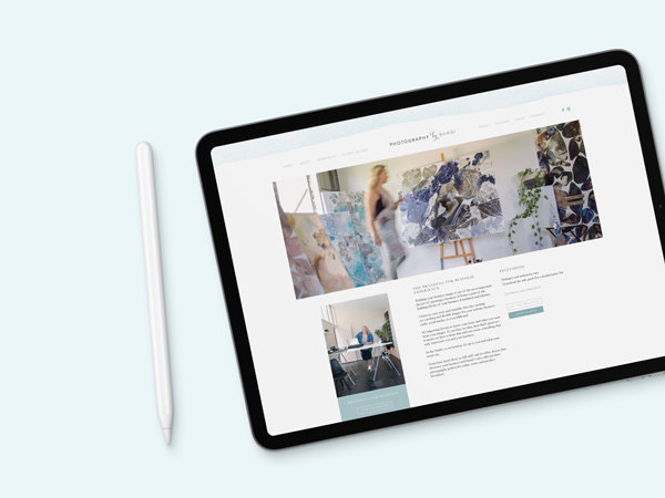 creative web design for photographer
