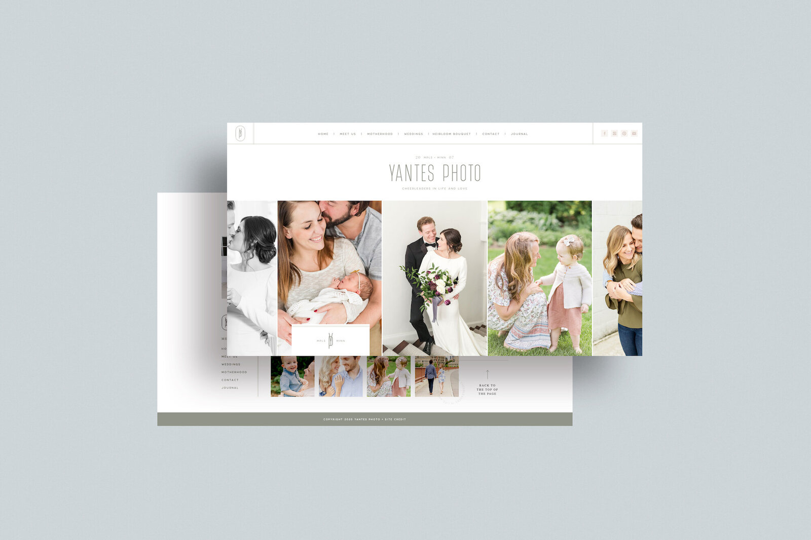 Ashley Yantes - Yantes Photo Custom Showit Web Website Design by With Grace and Gold