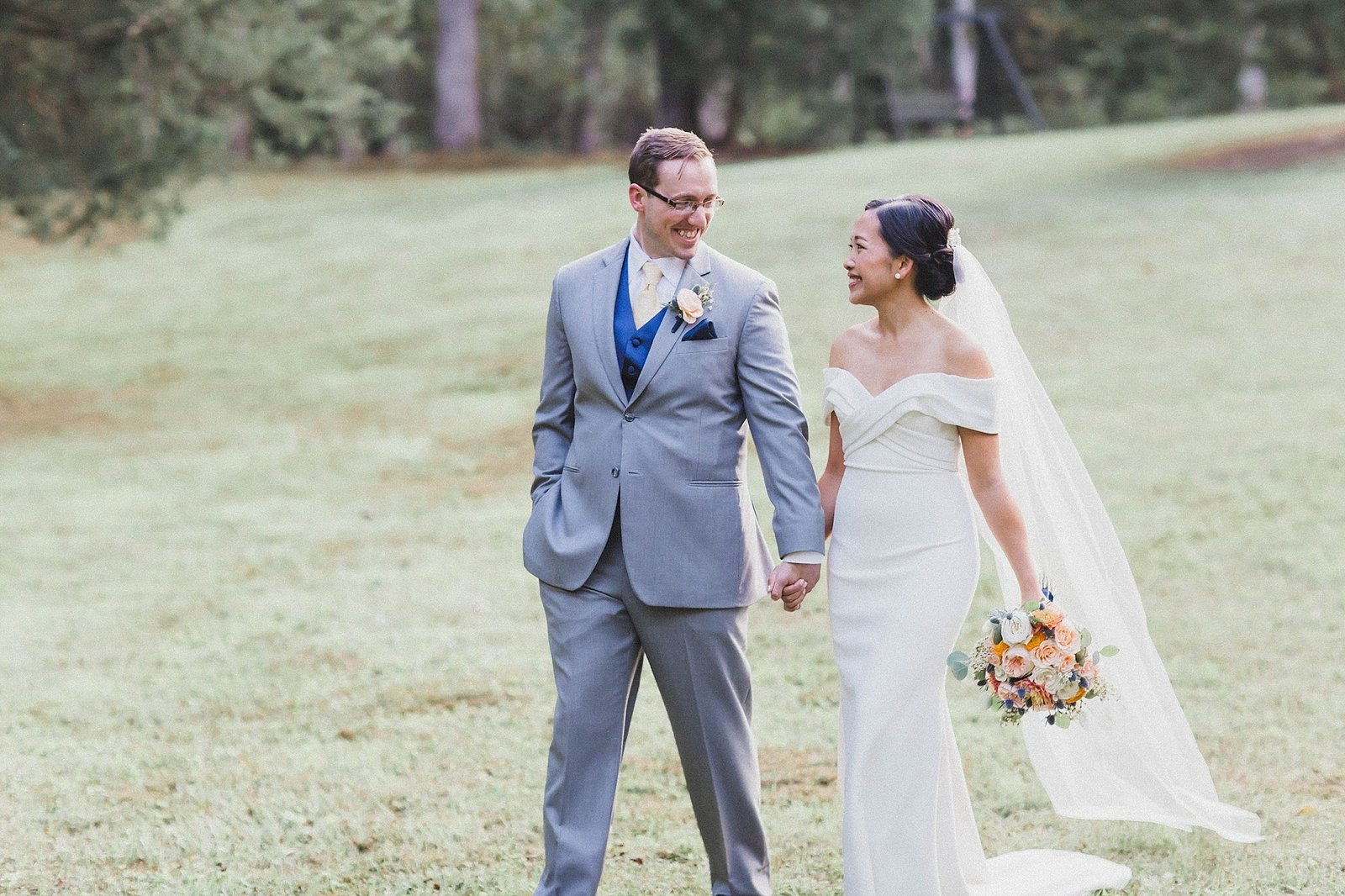 M Harris Studios_Braehead Manor_VA Wedding Photographer_bride groom portrait outside