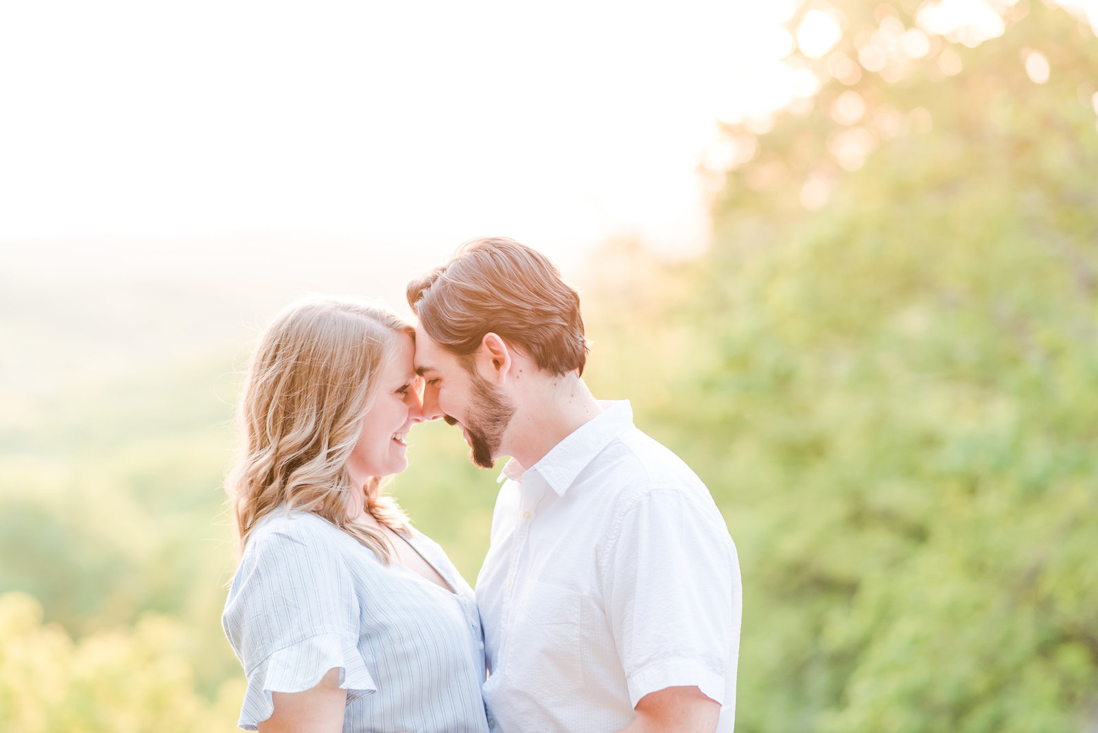 Summer Engagement Session at Brown County State Park