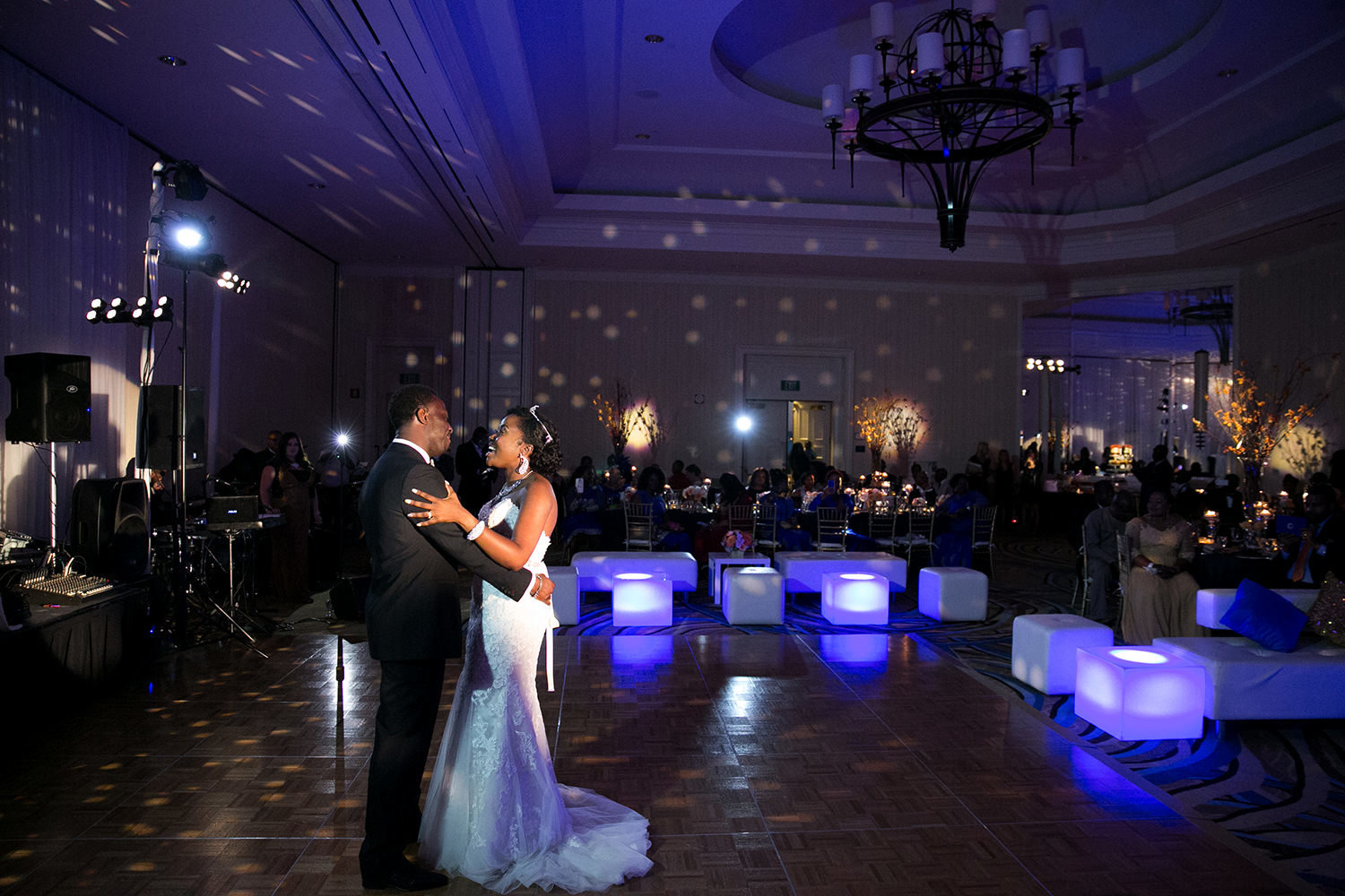 reception space and first dance at loews coronado