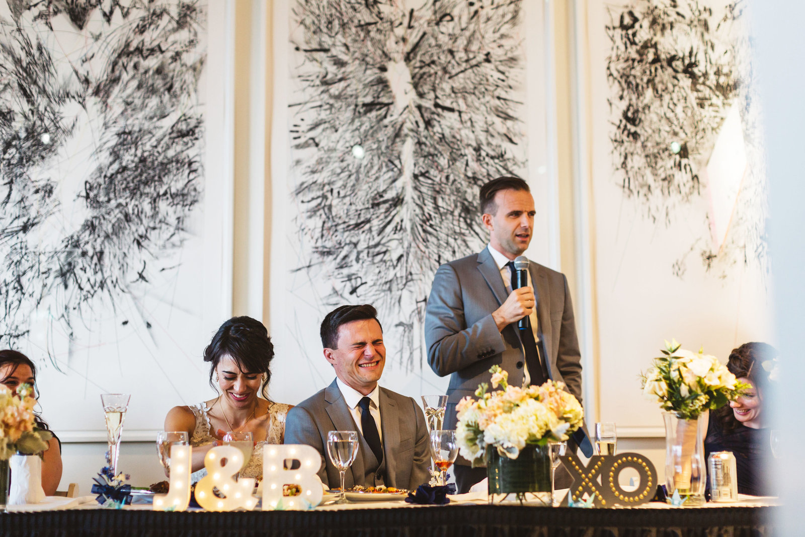 best man tells embarassing story at menlo park conference center wedding