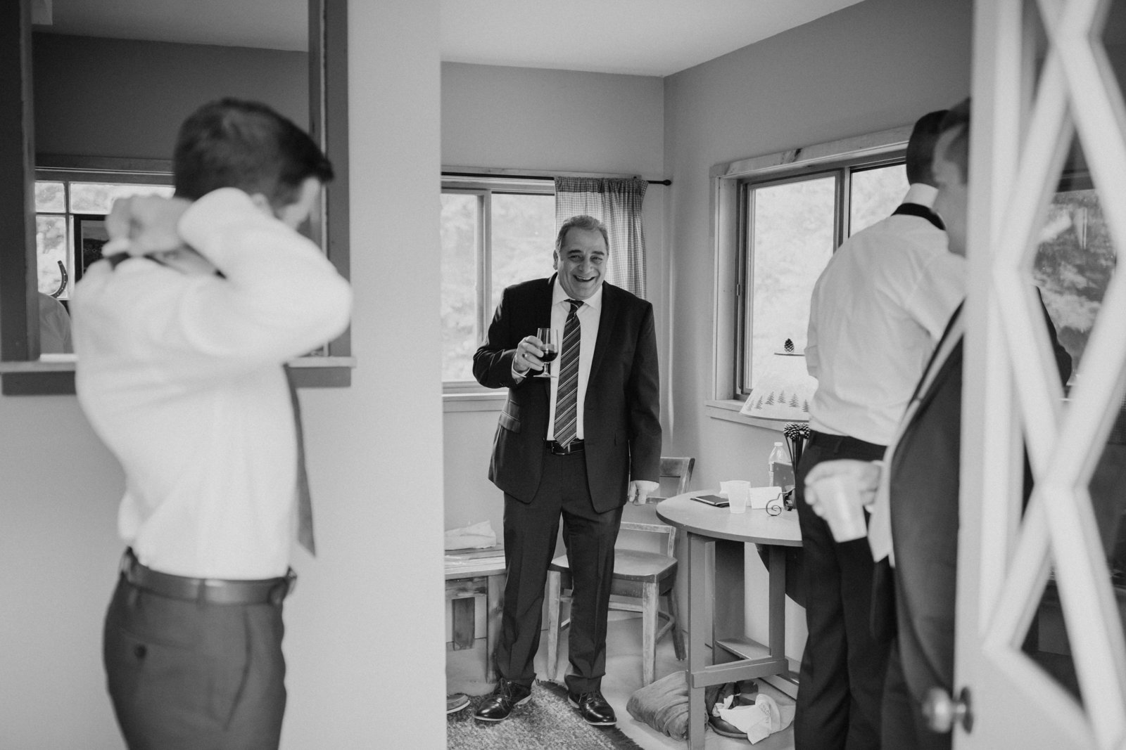father of the groom candid