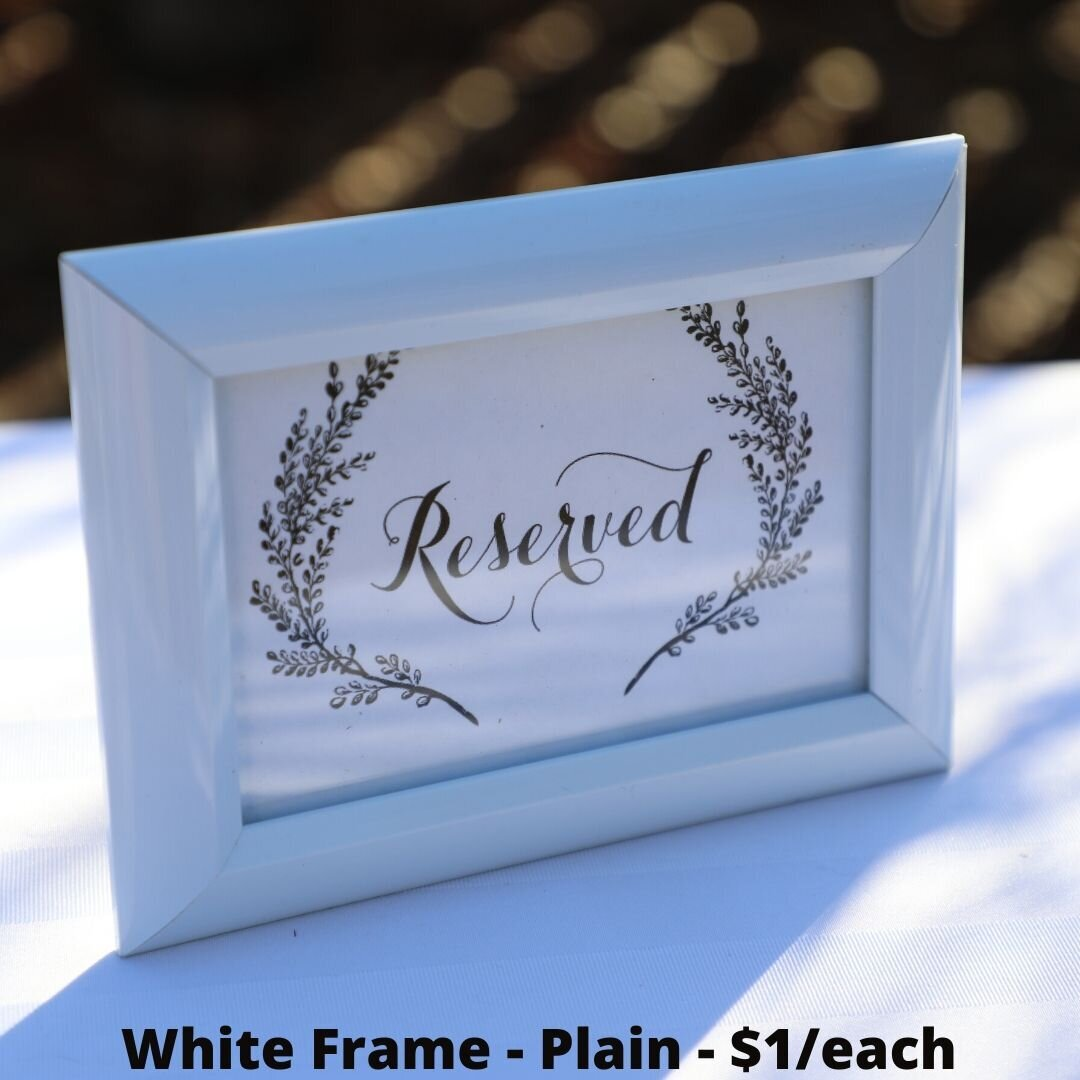 white frame plain