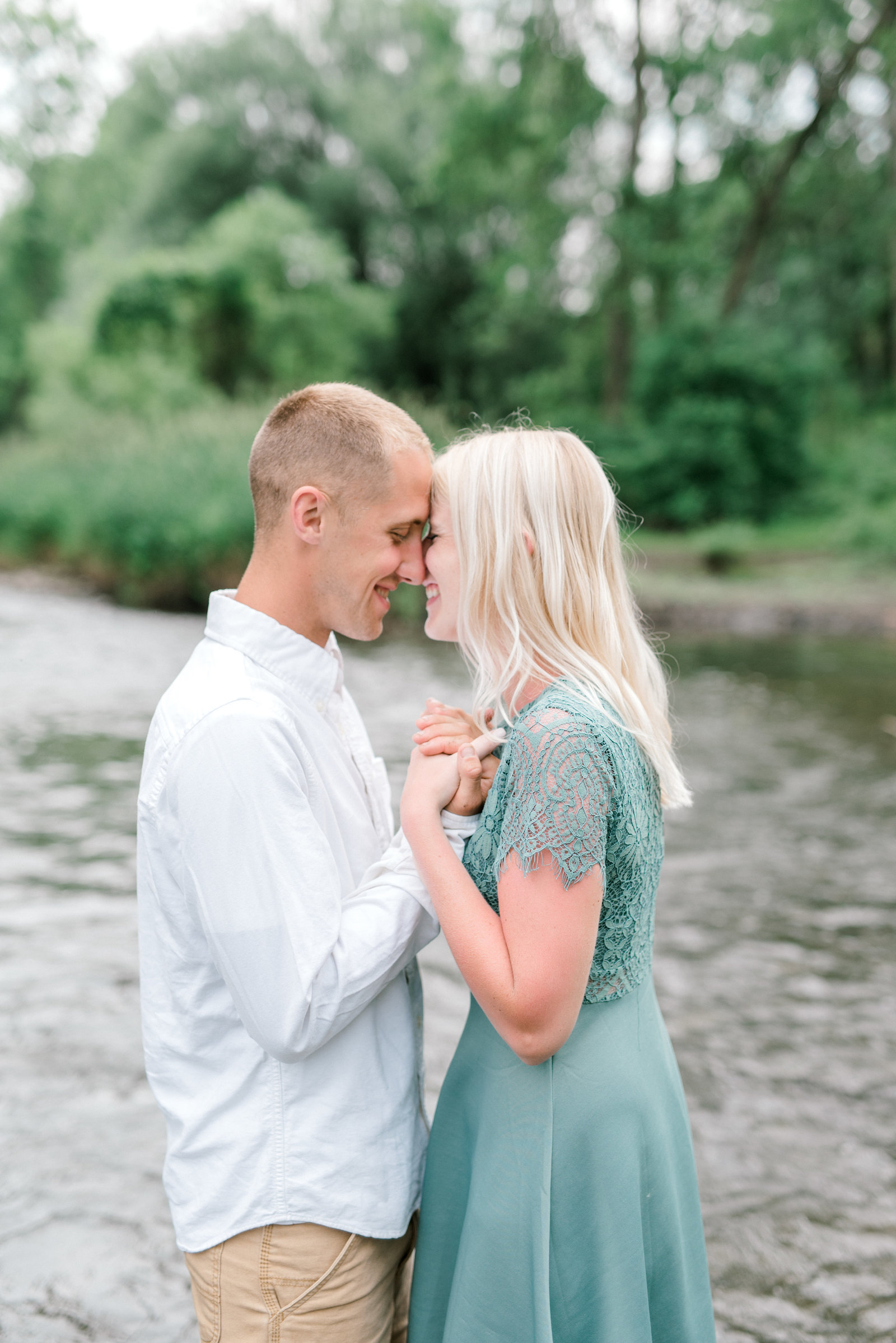 Spring Creek PA engagement session in summer