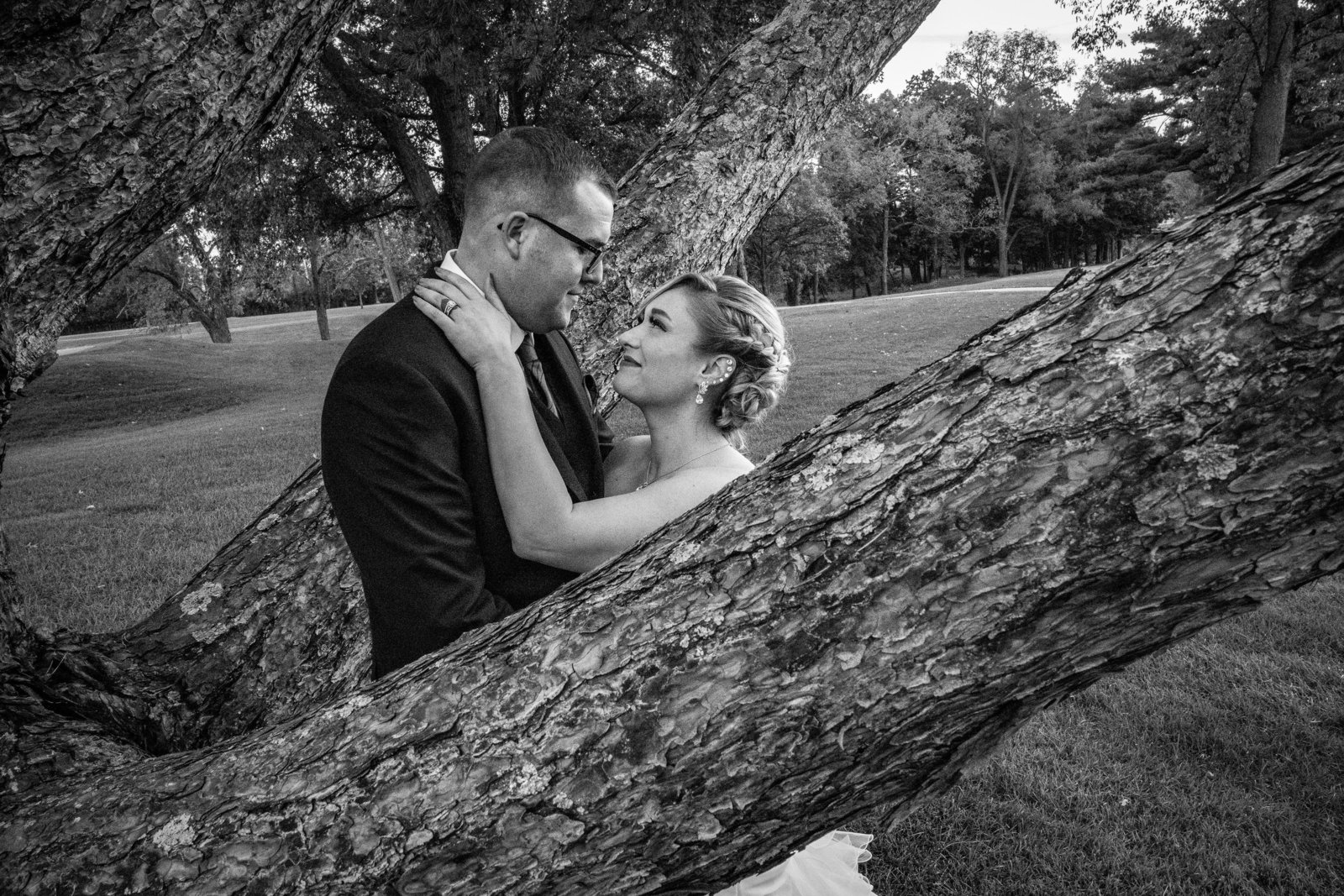 Tree w Bride & Groom