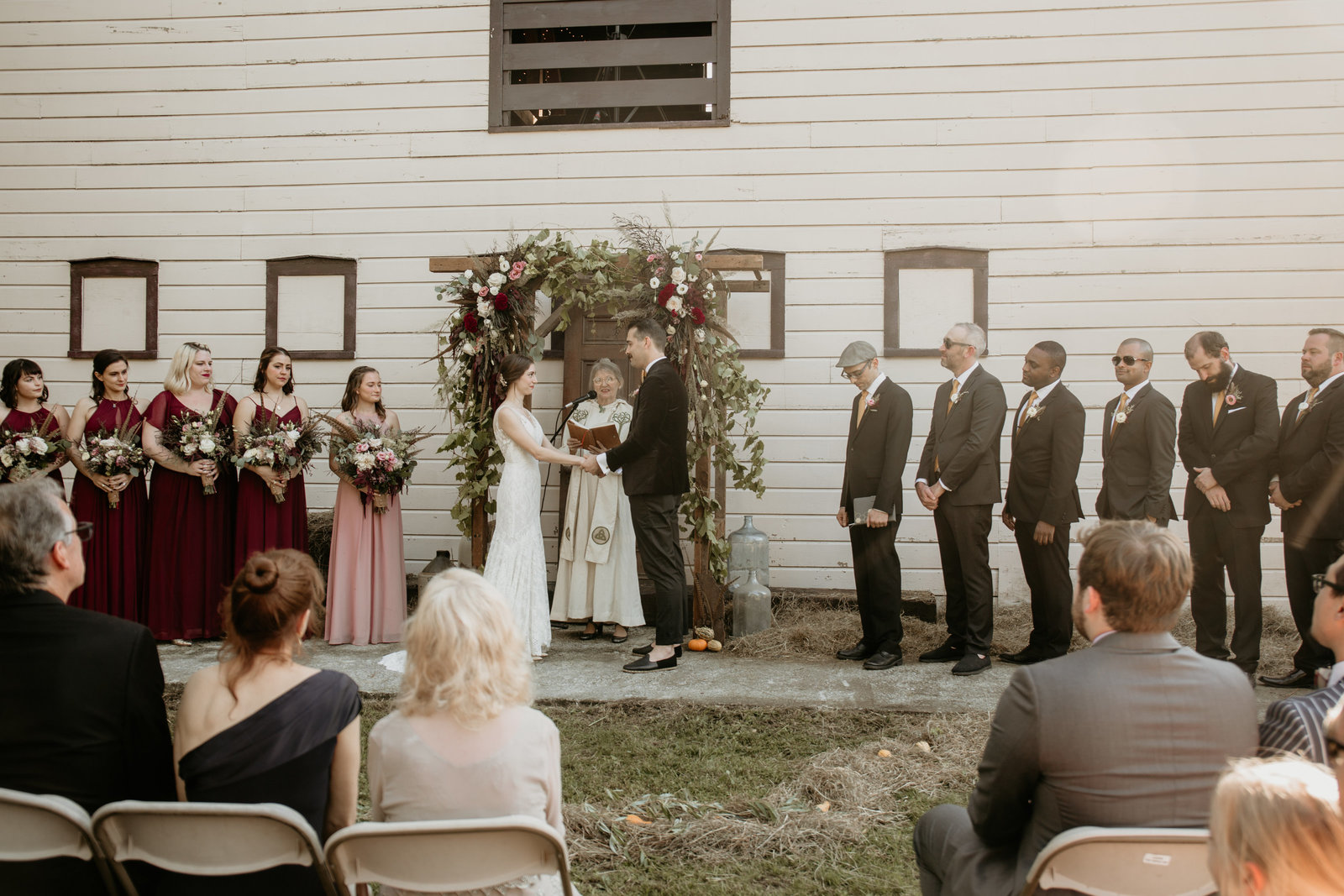 Wedding ceremony in Catskill, New York.