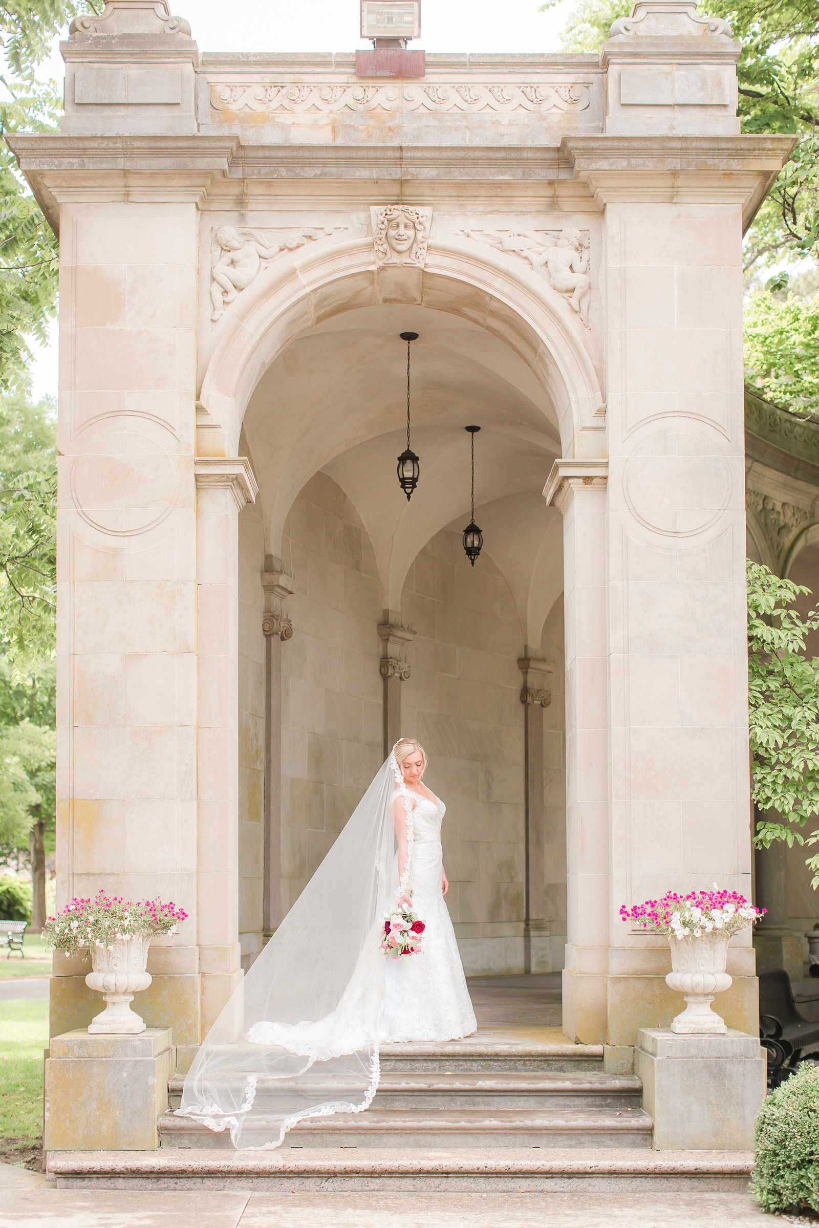 Bridal portrait at Monmouth University