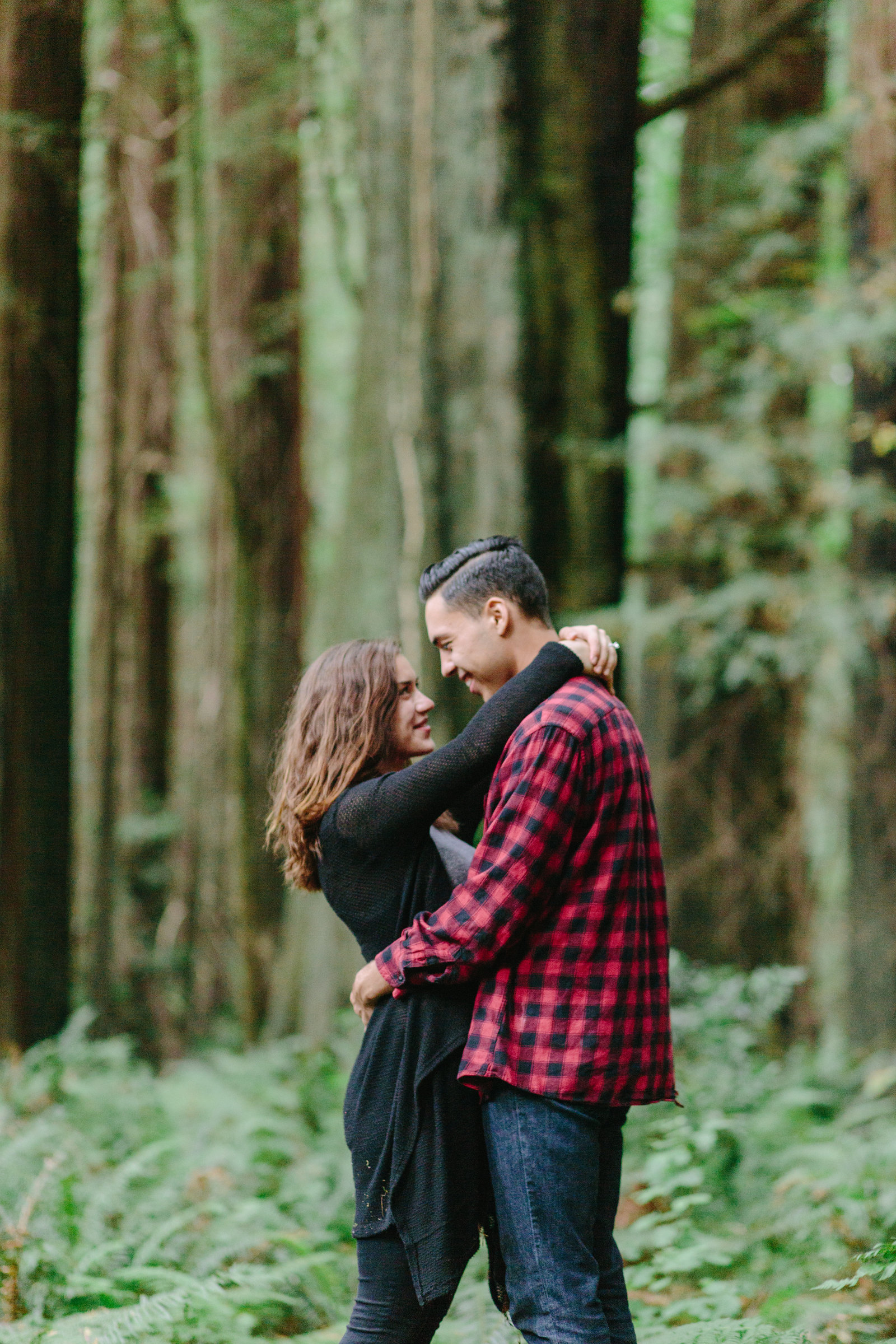 Redwood National Park Avenue of the Giants Engagement Session -7492