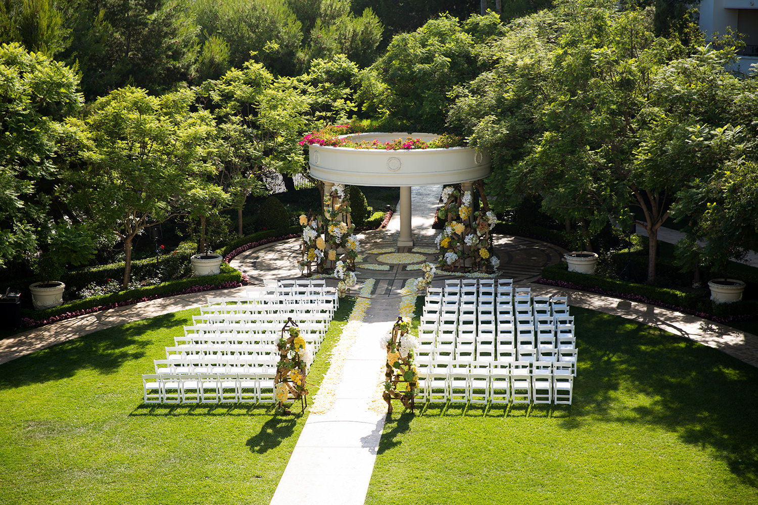 St Regis wedding ceremony site set up