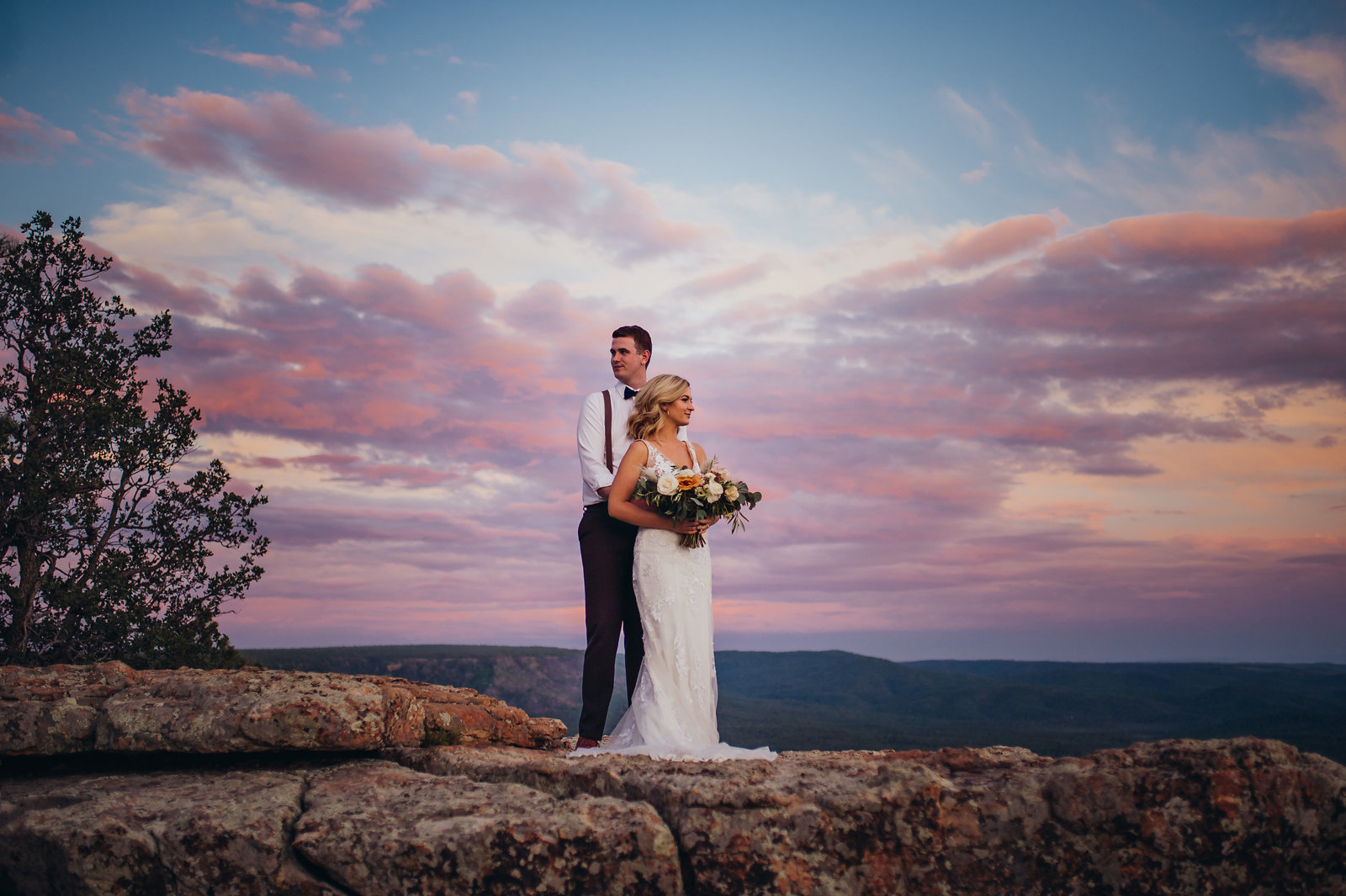 Gorgeous Elopement on the Mogollon Rim right outside of Payson, Arizona | Rusty Metals Photography - Arizona Elopements