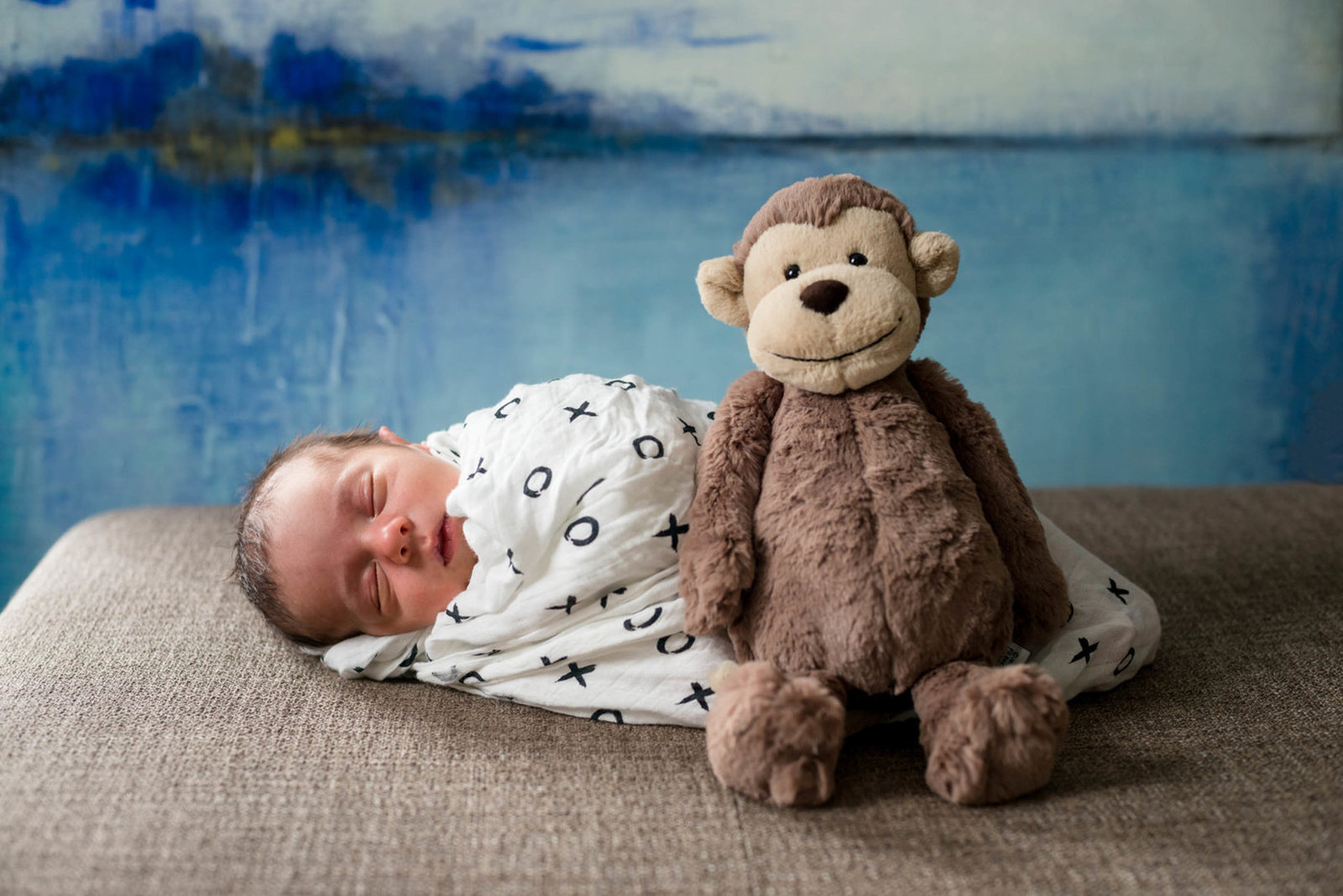 Newborn Lifestyle Session at home Boston