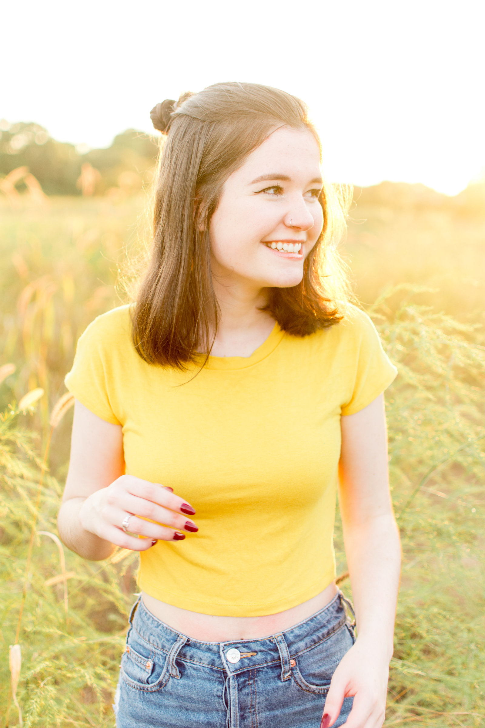 Sunshiny Senior Photo