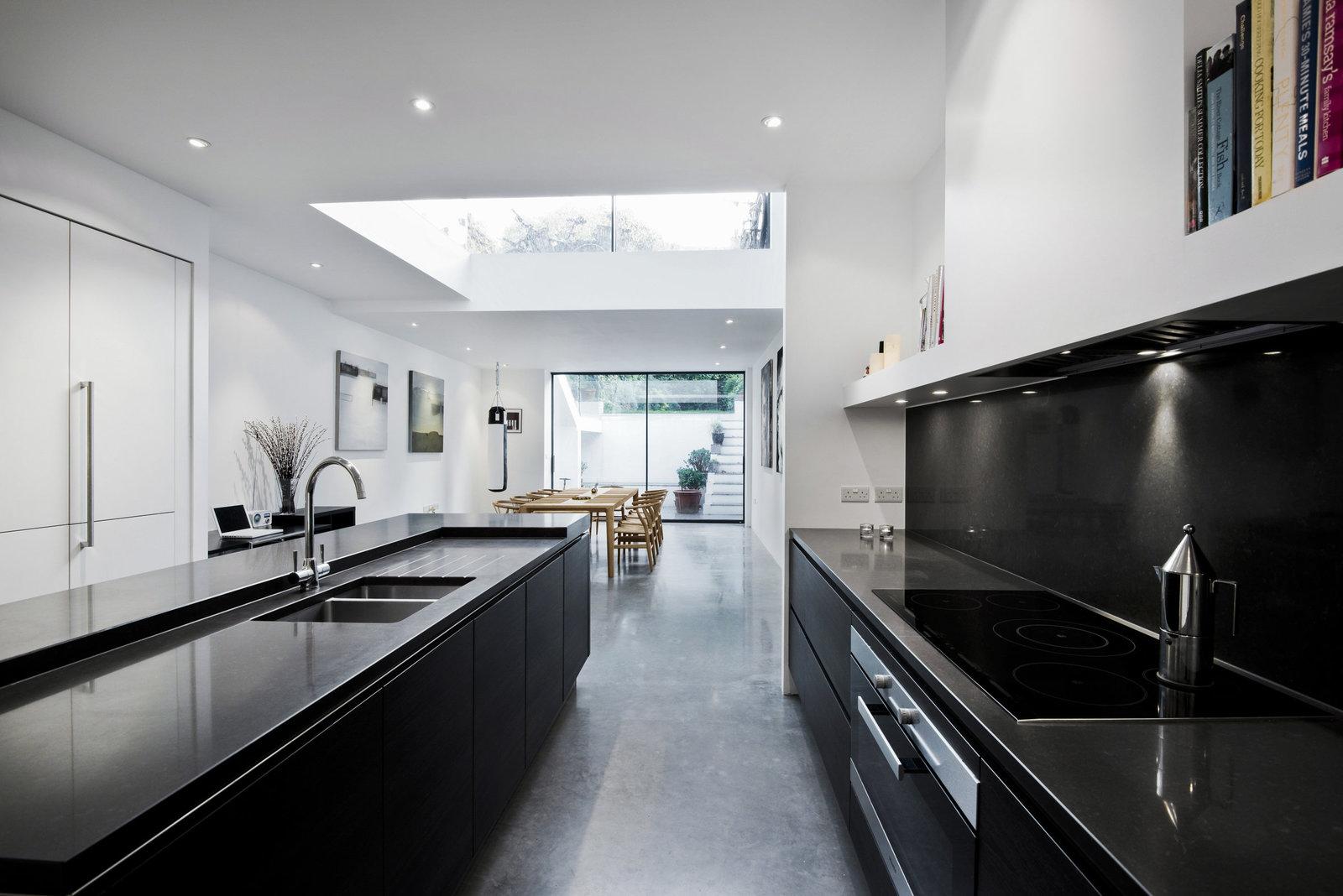 Monochrome Modern Kitche Design London Interior. Bathroom Design London  Interior Photographer