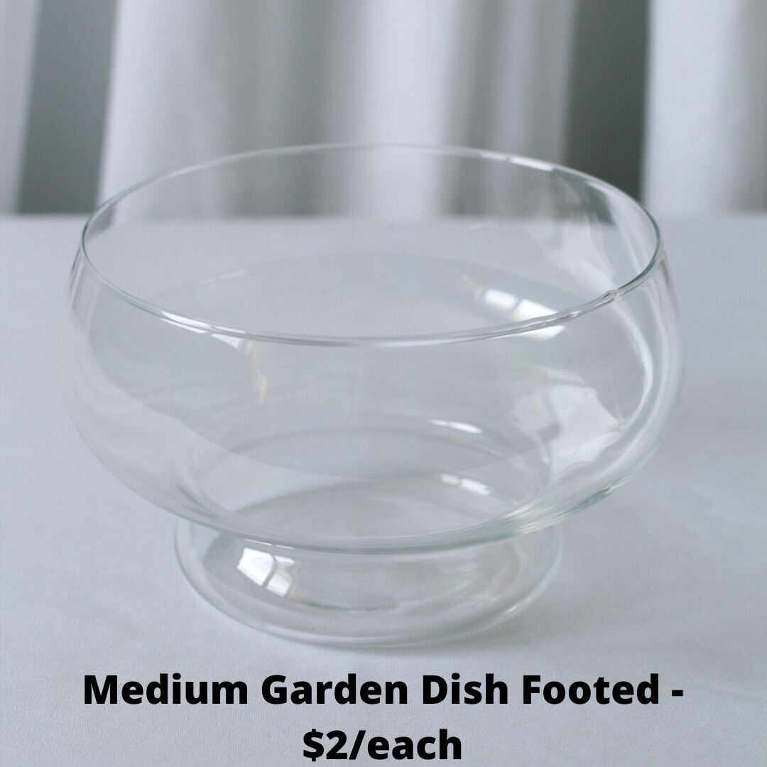 med footed garden dish