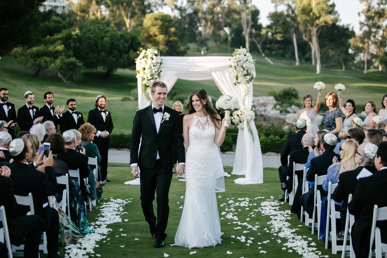 bride and groom married at marbella country club in san juan capistrano