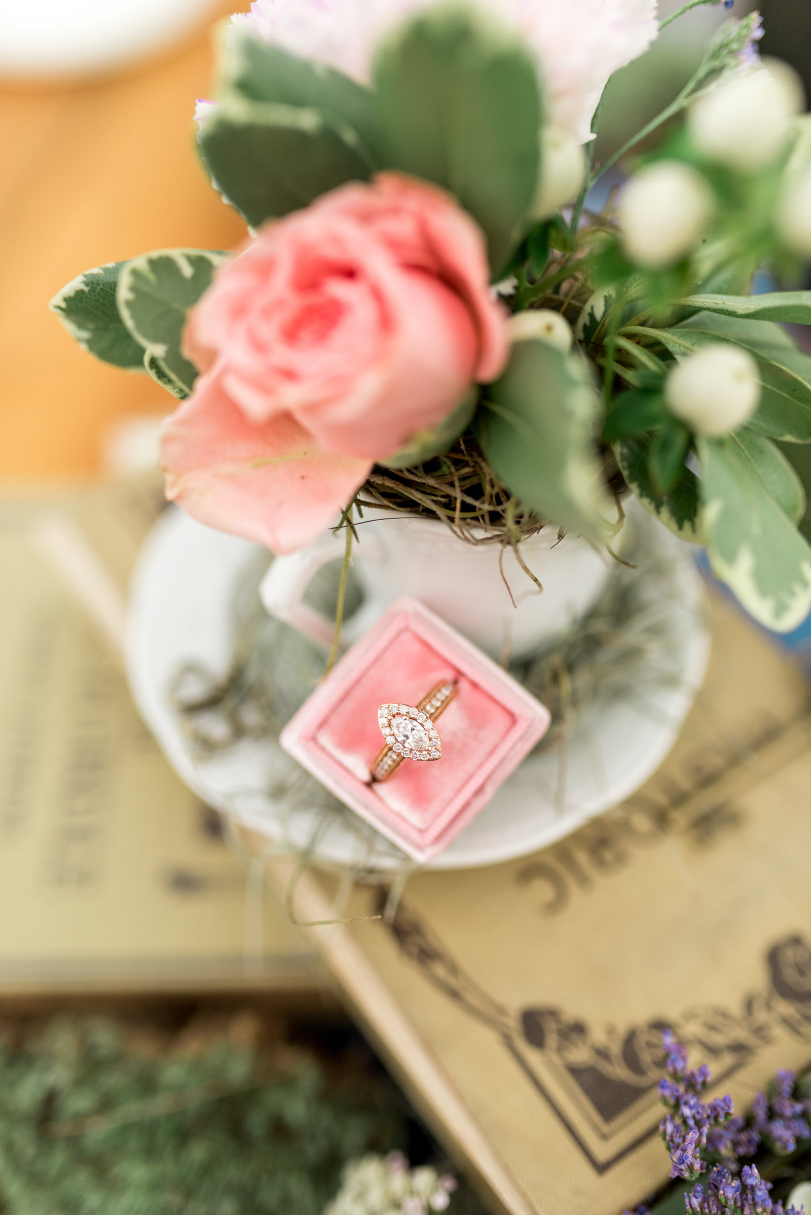 Tea Cup Wedding Ring