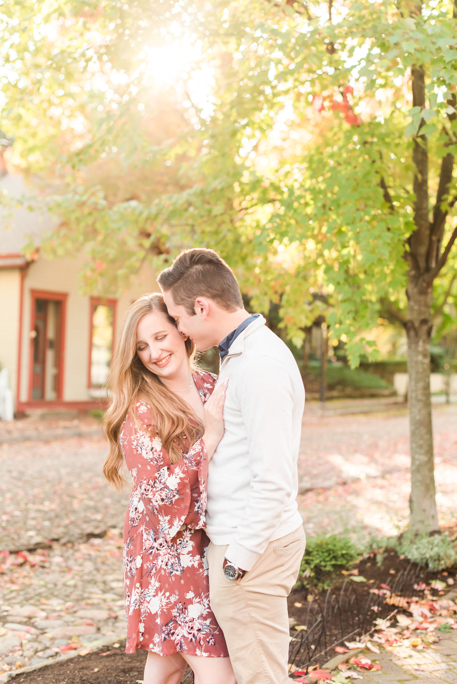 Lockerbie Square Engagement Session