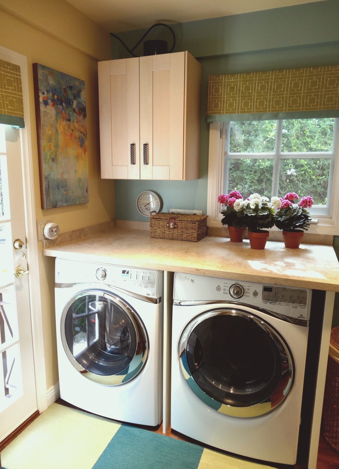 Colorful Laundry Space