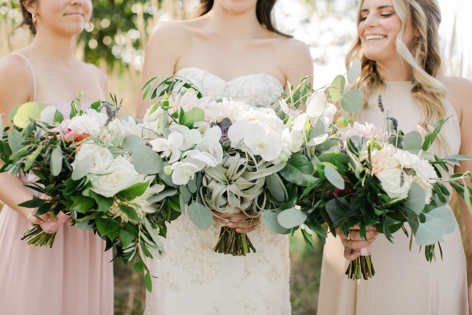 Saltwater Farm Vineyard Wedding_Blush Bridesmaids 6
