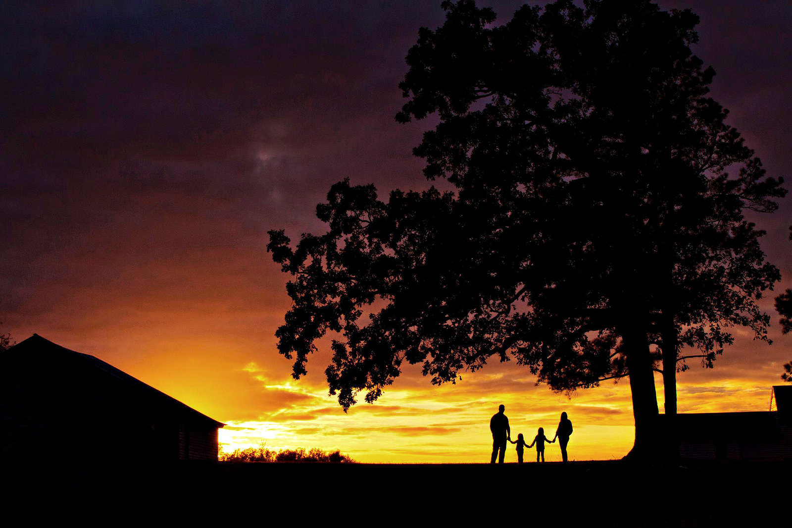 north_carolina_family_sunset