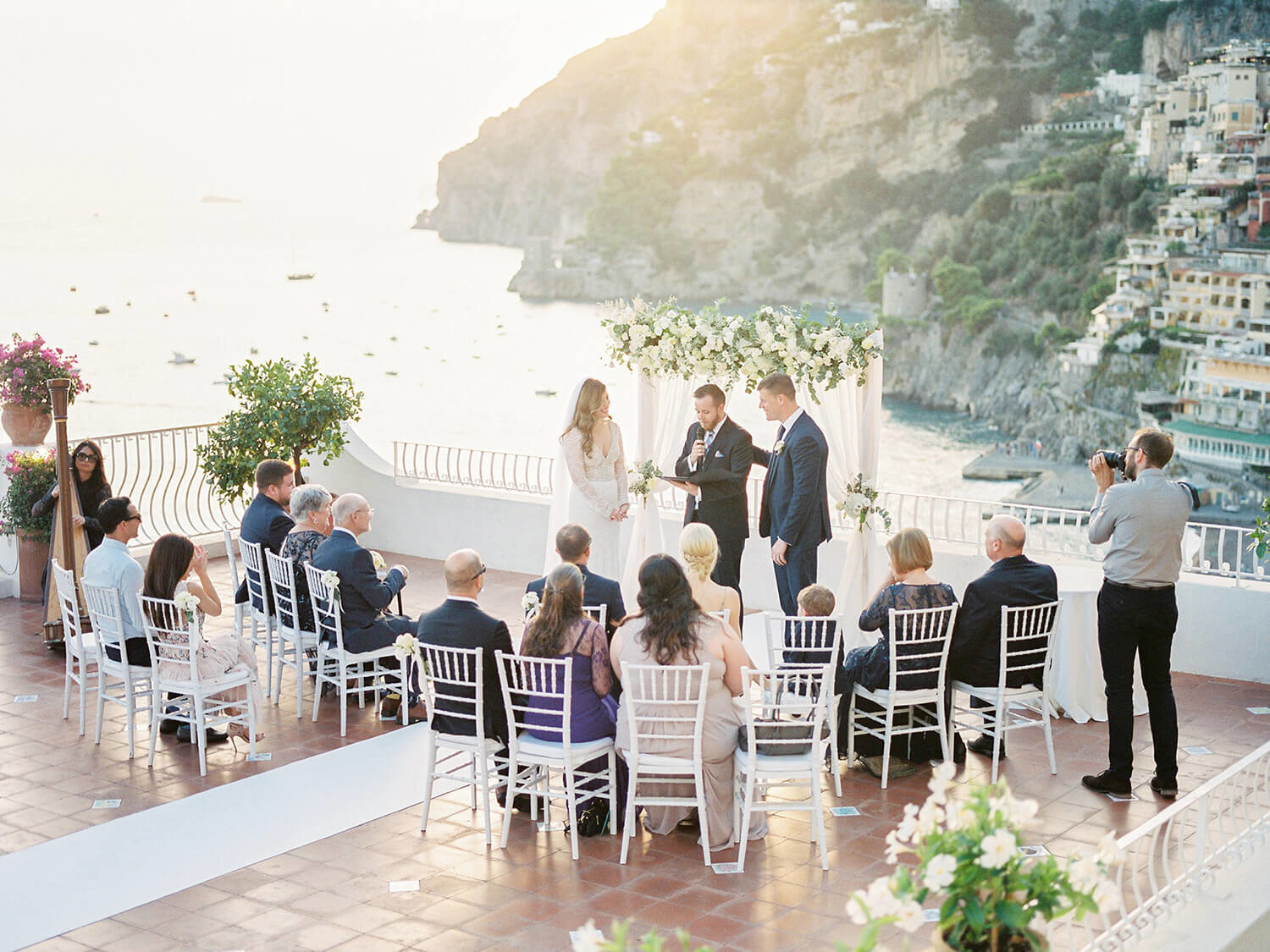 Positano Sunset Wedding ceremony at Hotel Marincanto