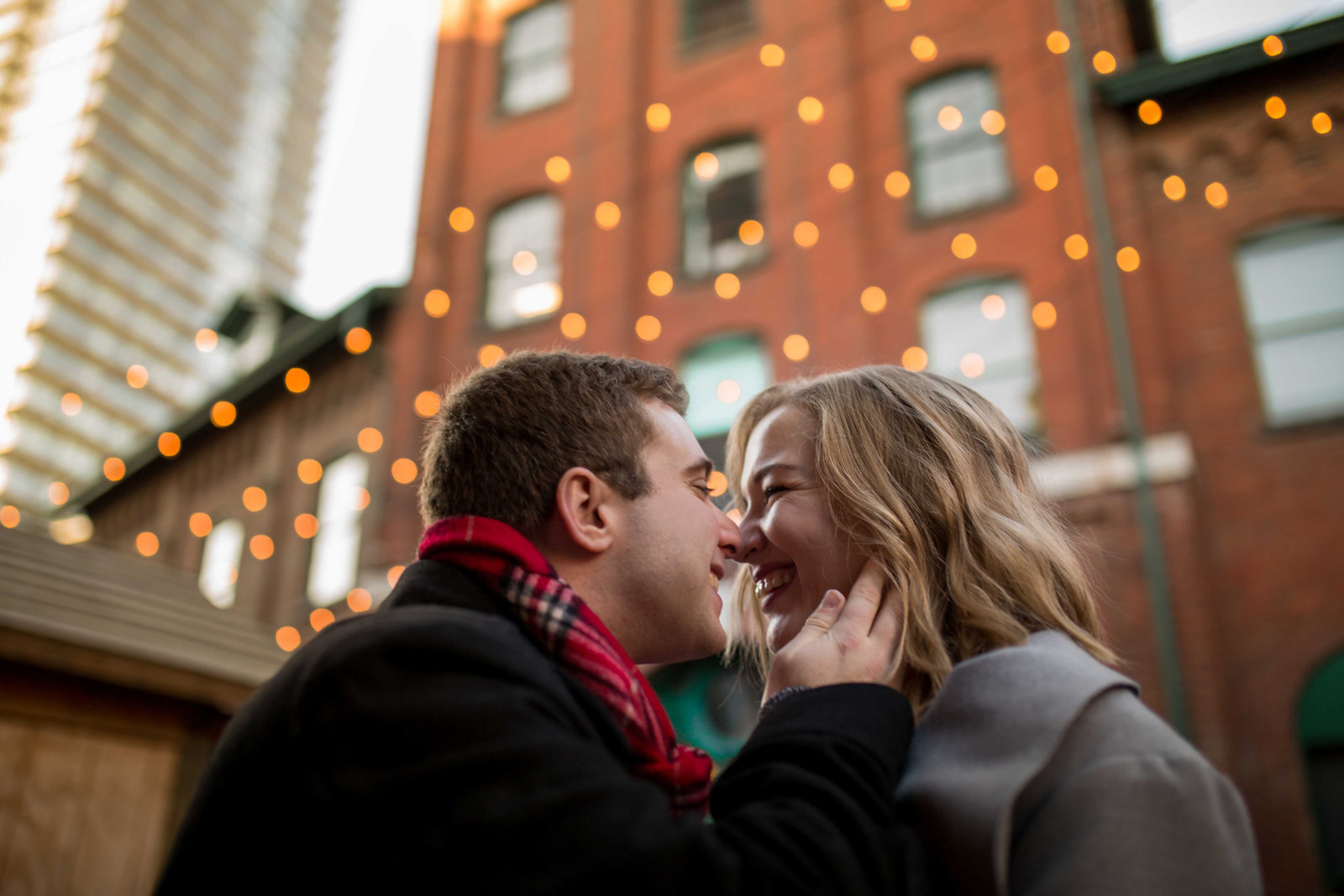 distillery district christmas market engagement shoot-20