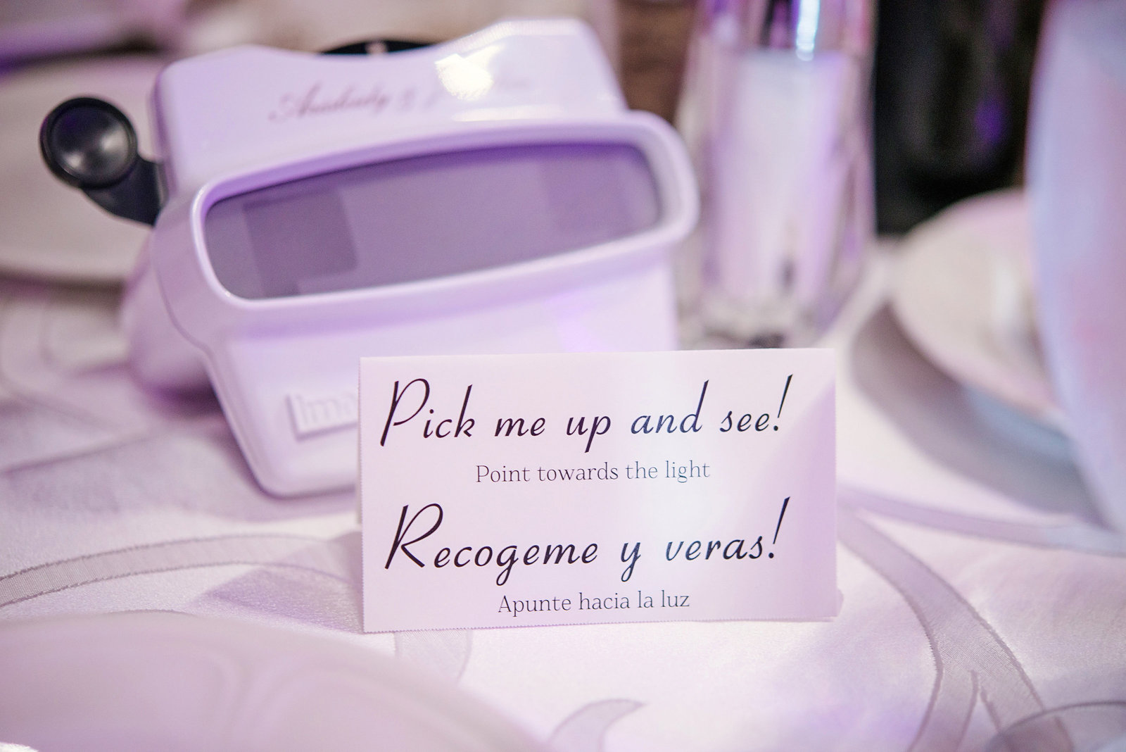 Wedding favors at Chateau Briand