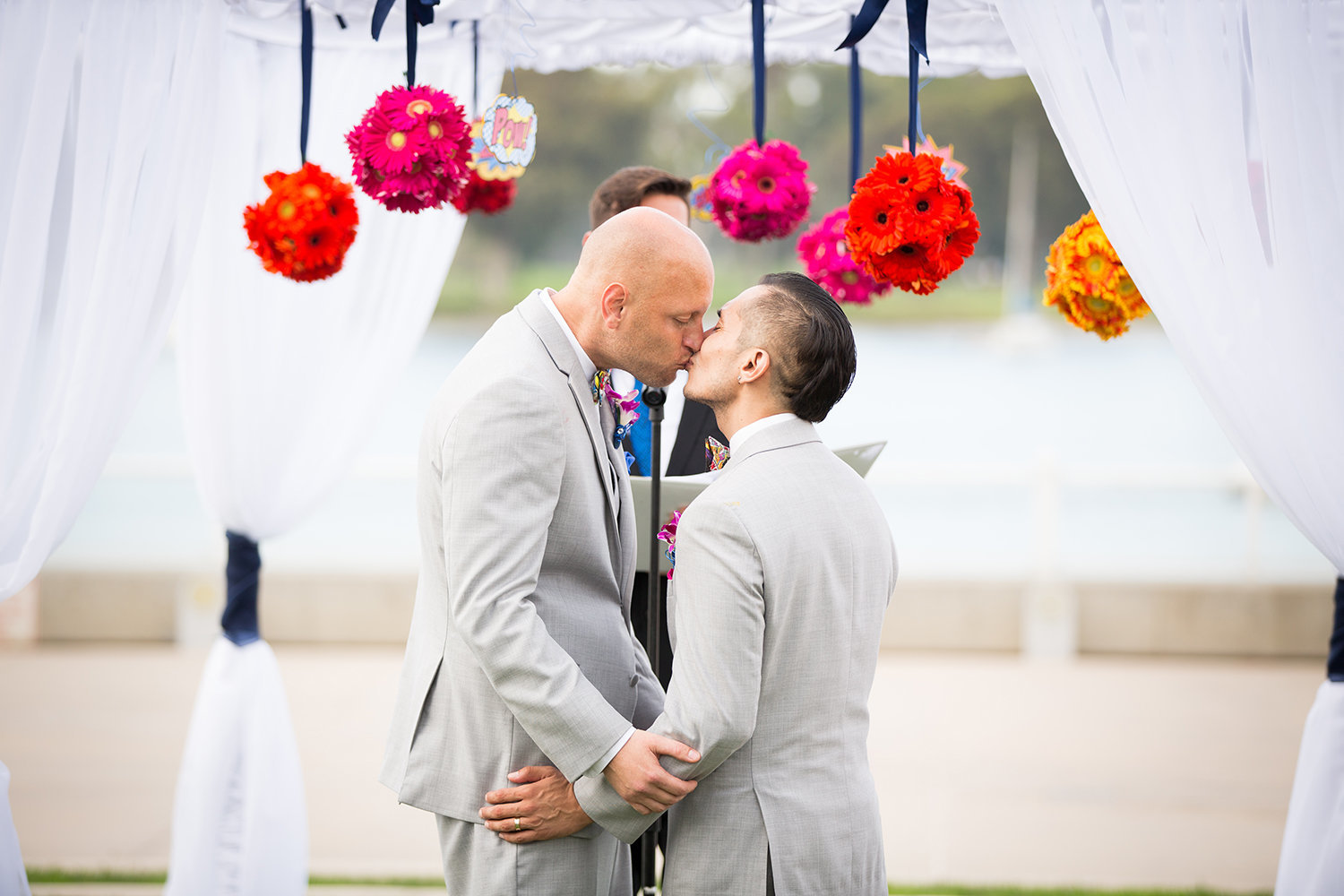 First Kiss as Husbands | LGBT Wedding