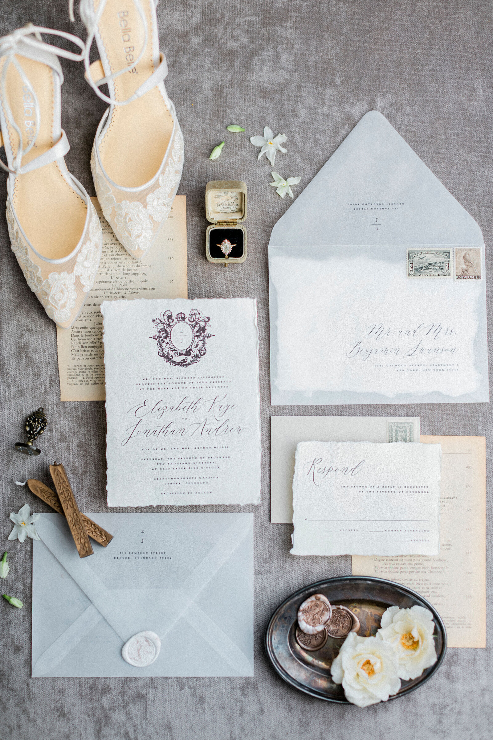Wedding Invitations with Flowers