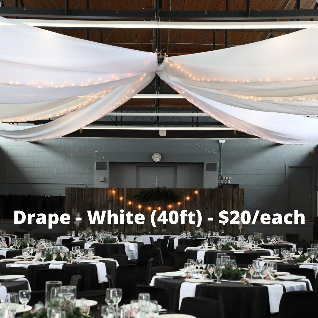 40ft drape white