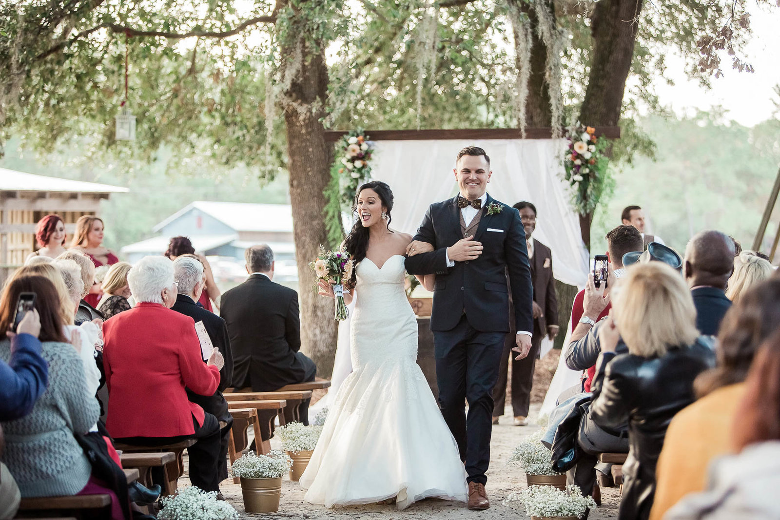 Bride and groom are announced, Boals Farm, Charleston, South Carolina