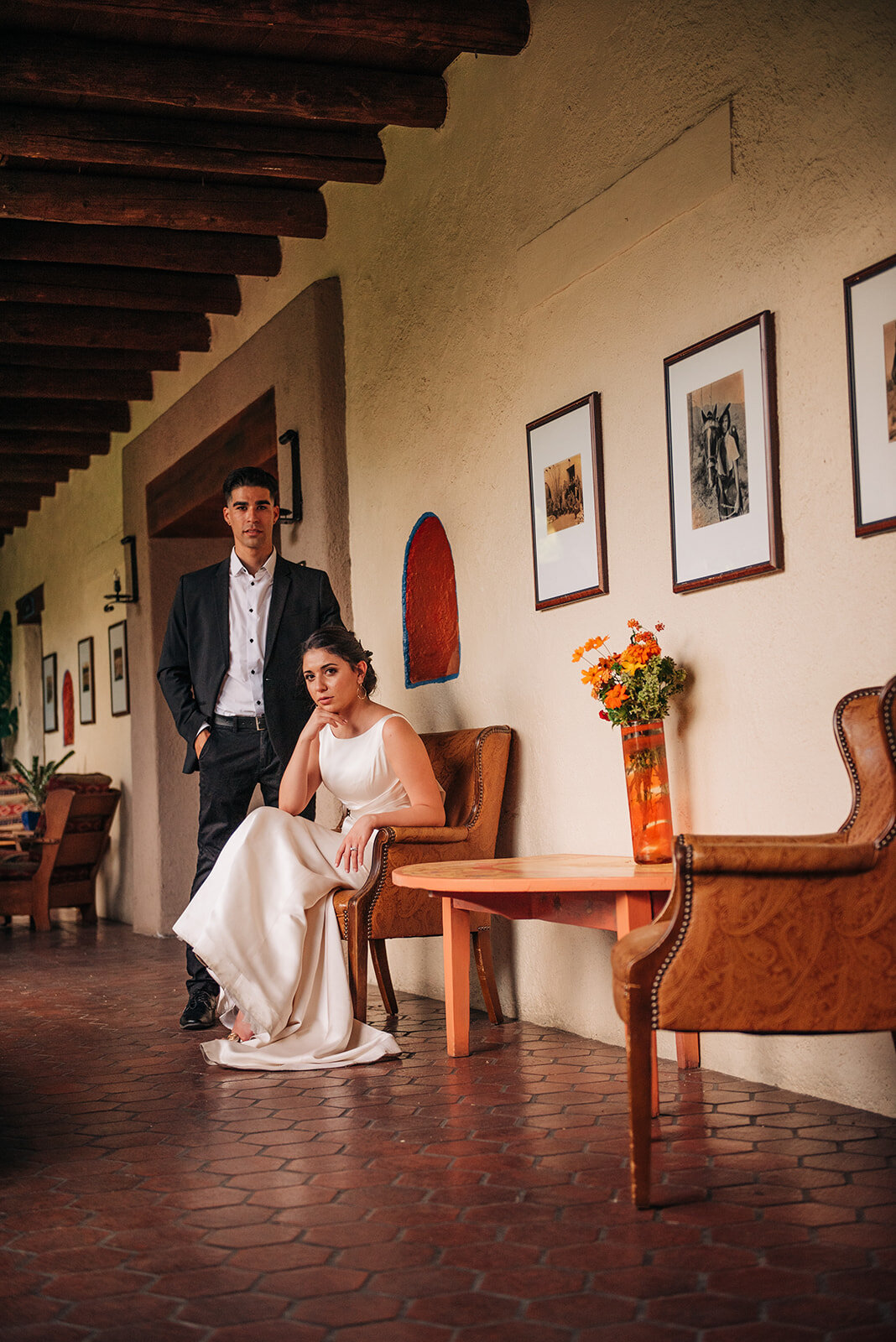 High Fashion Arizona Bride and Groom, Hacienda Del Sol, Tucson, Arizona