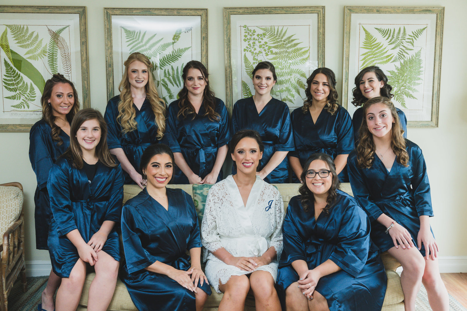 photo of bridesmaids with bride from wedding at Three Village Inn