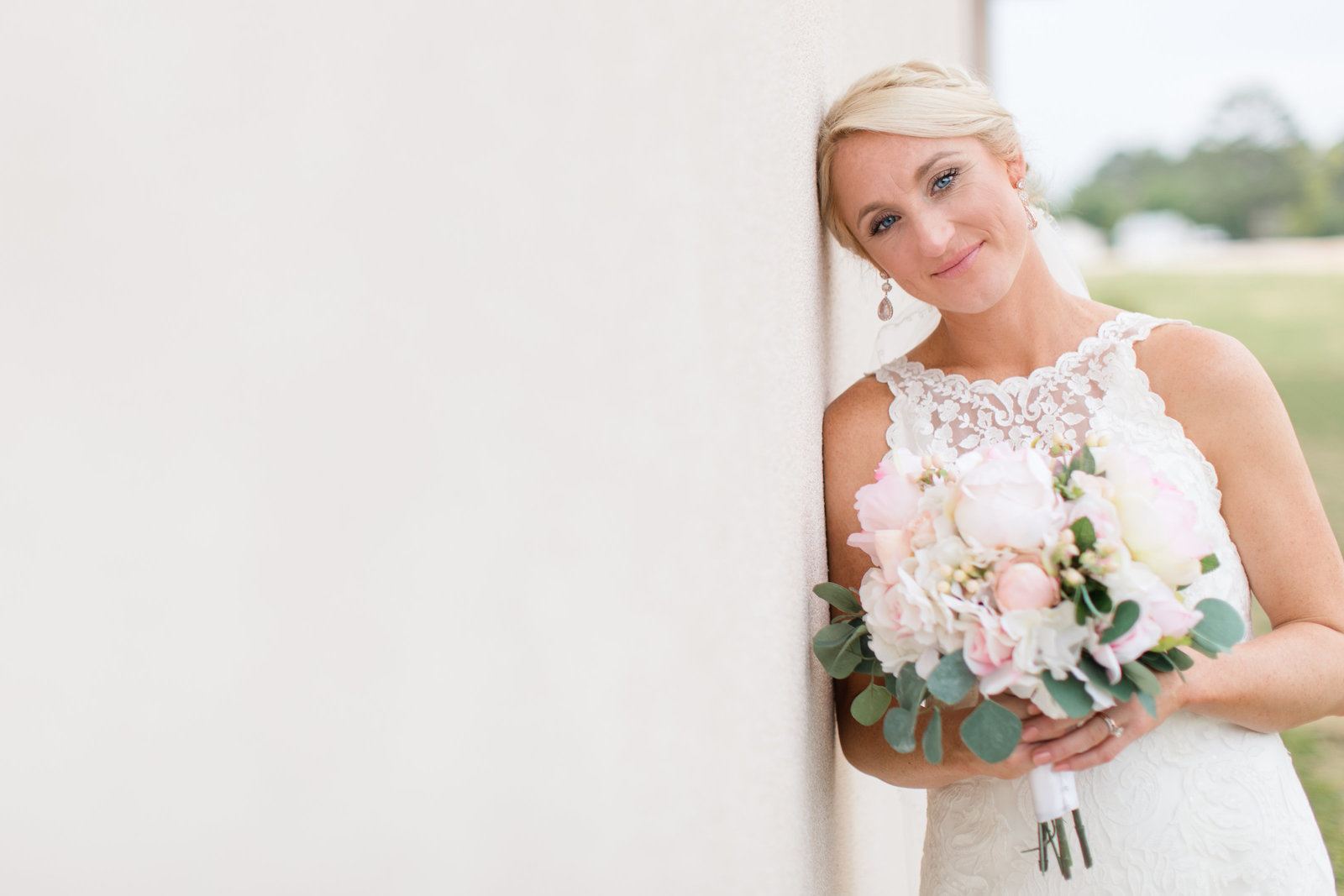 Beautiful Bridal Portrait at the Fair Barn, Pinehurst, NC