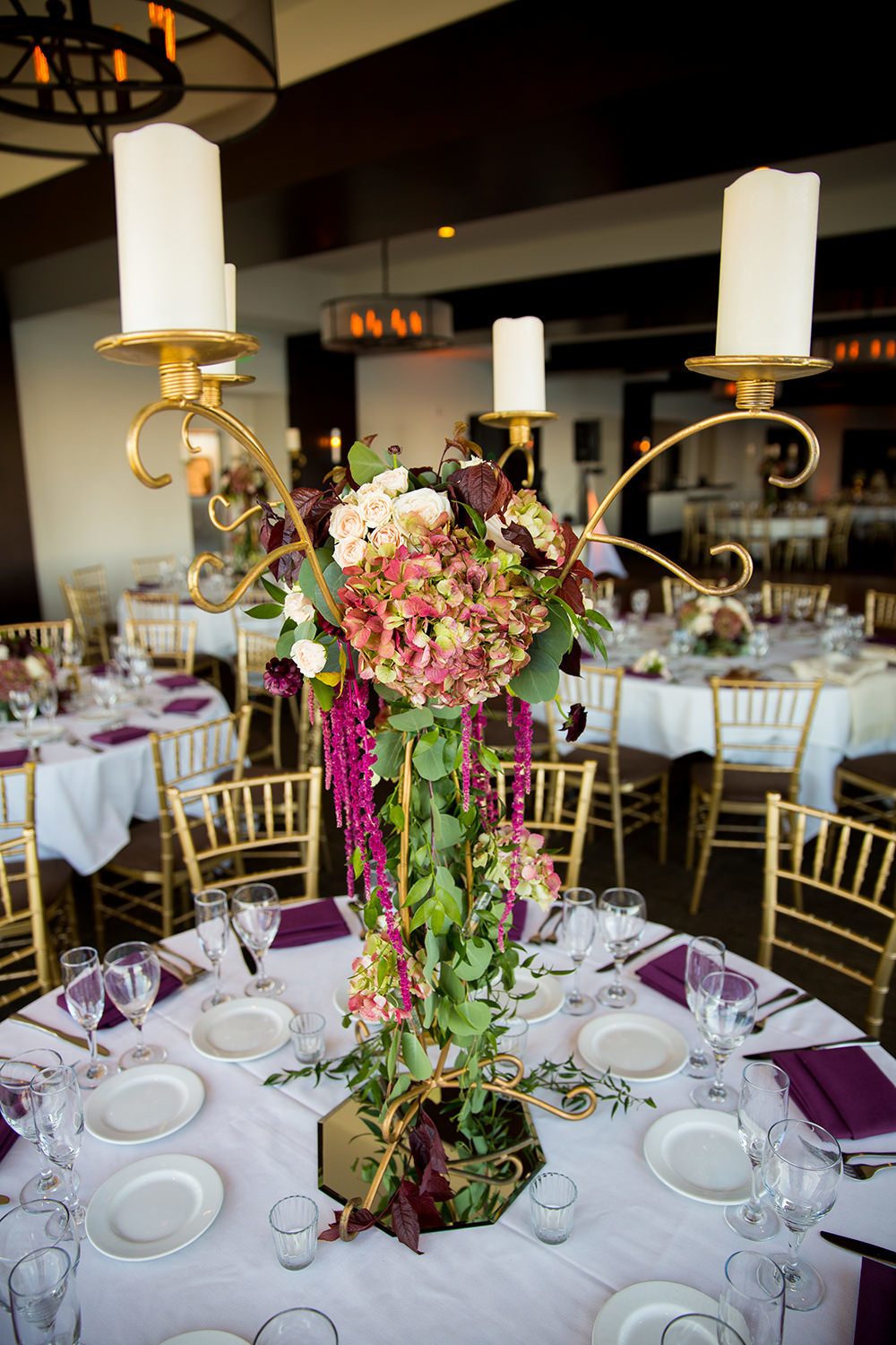 flowers at the reception space