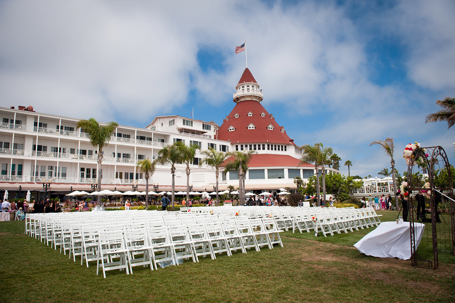 Wedding Ceremony Photo from the Hotel Del Coronado
