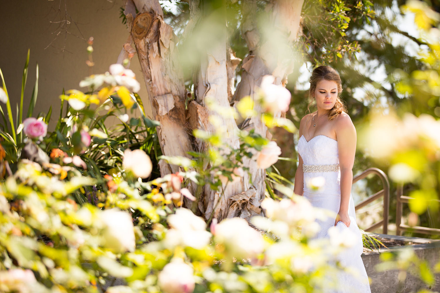 bride with roses at martin johnson house