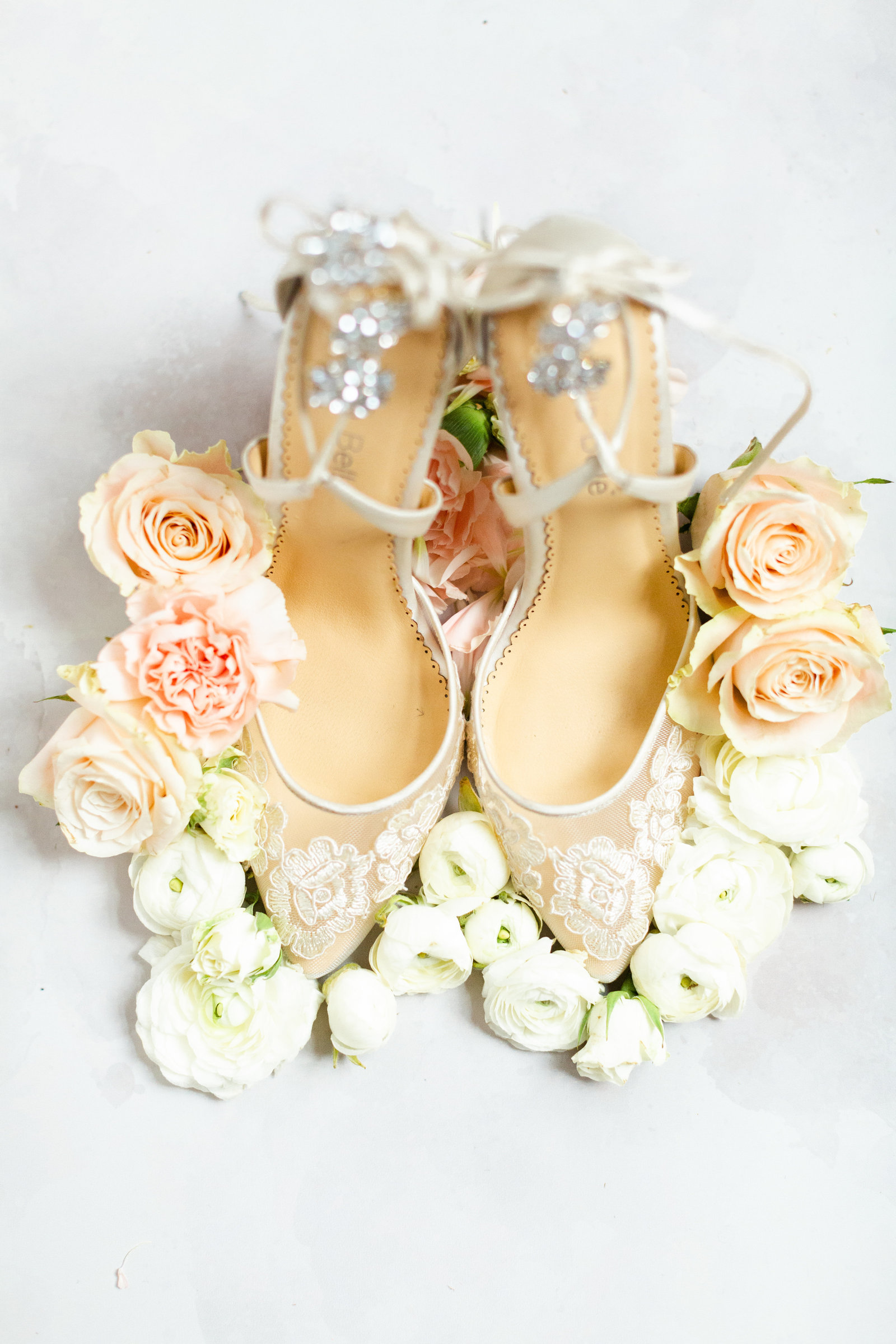 Wedding shoes from a wedding in Ohio photographed by The Cannons Photography