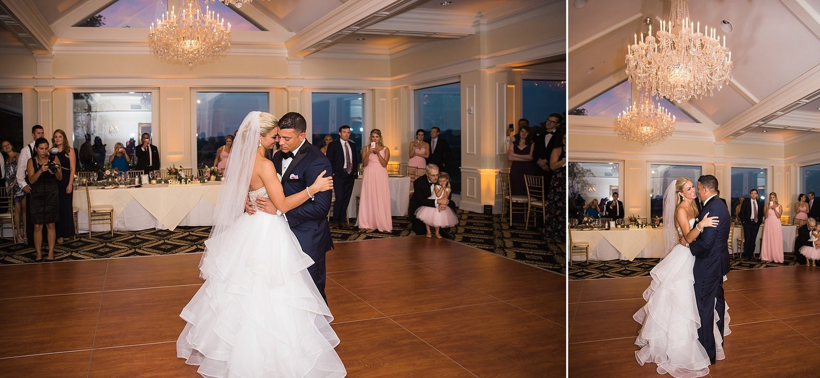 M Harris Studios_Trump National Golf Club Wedding_bride groom first dance