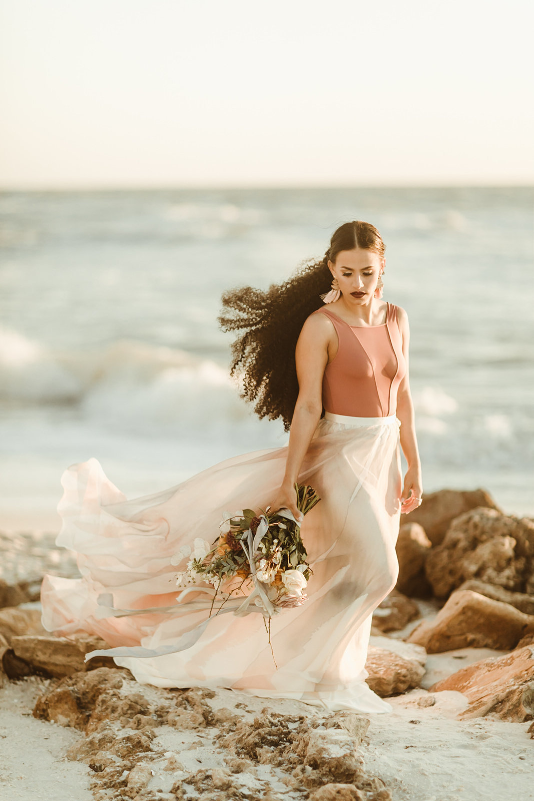 Celestial wedding inspiration_ beach elopement style-134