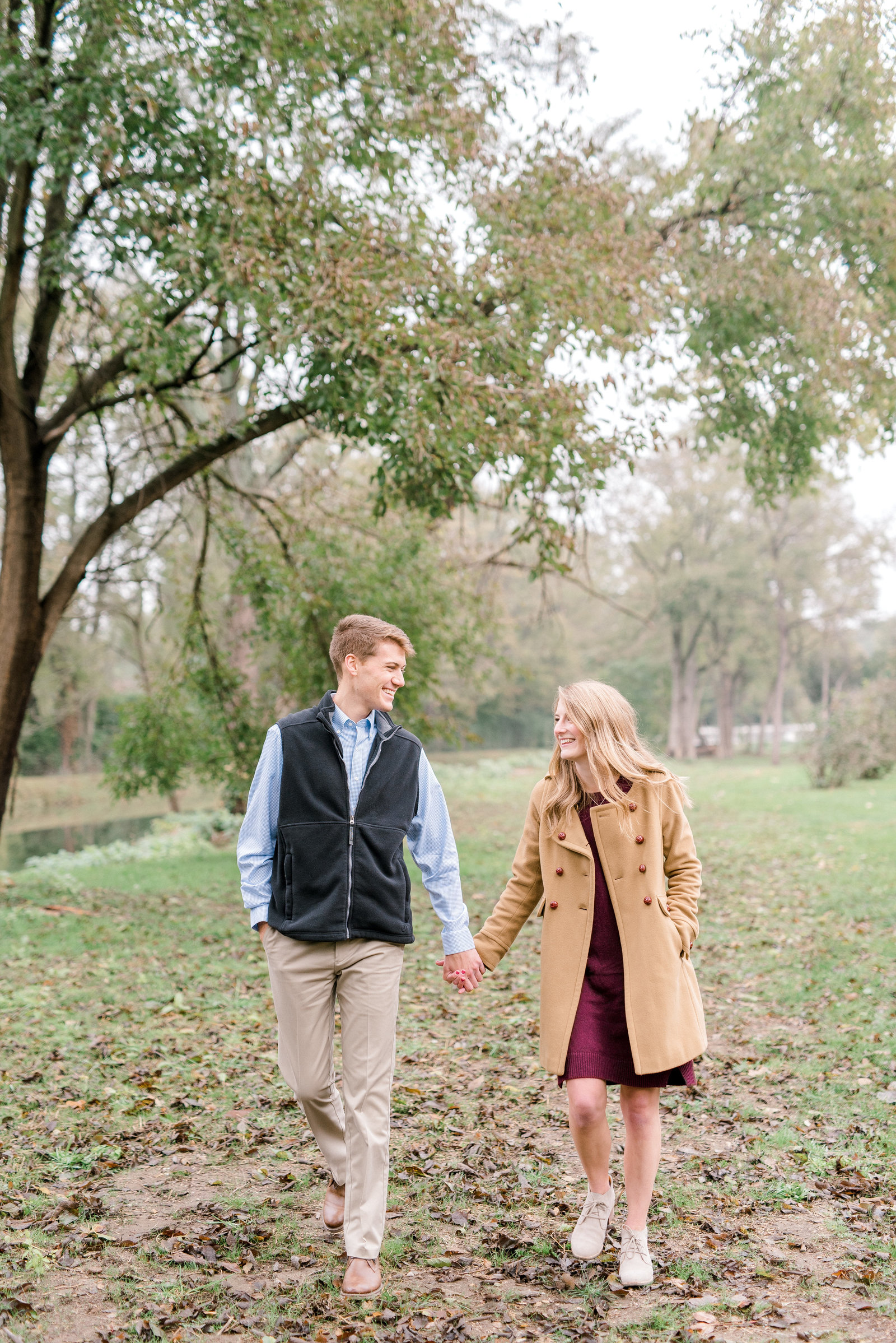 Butler University Engagement Session in the Fall