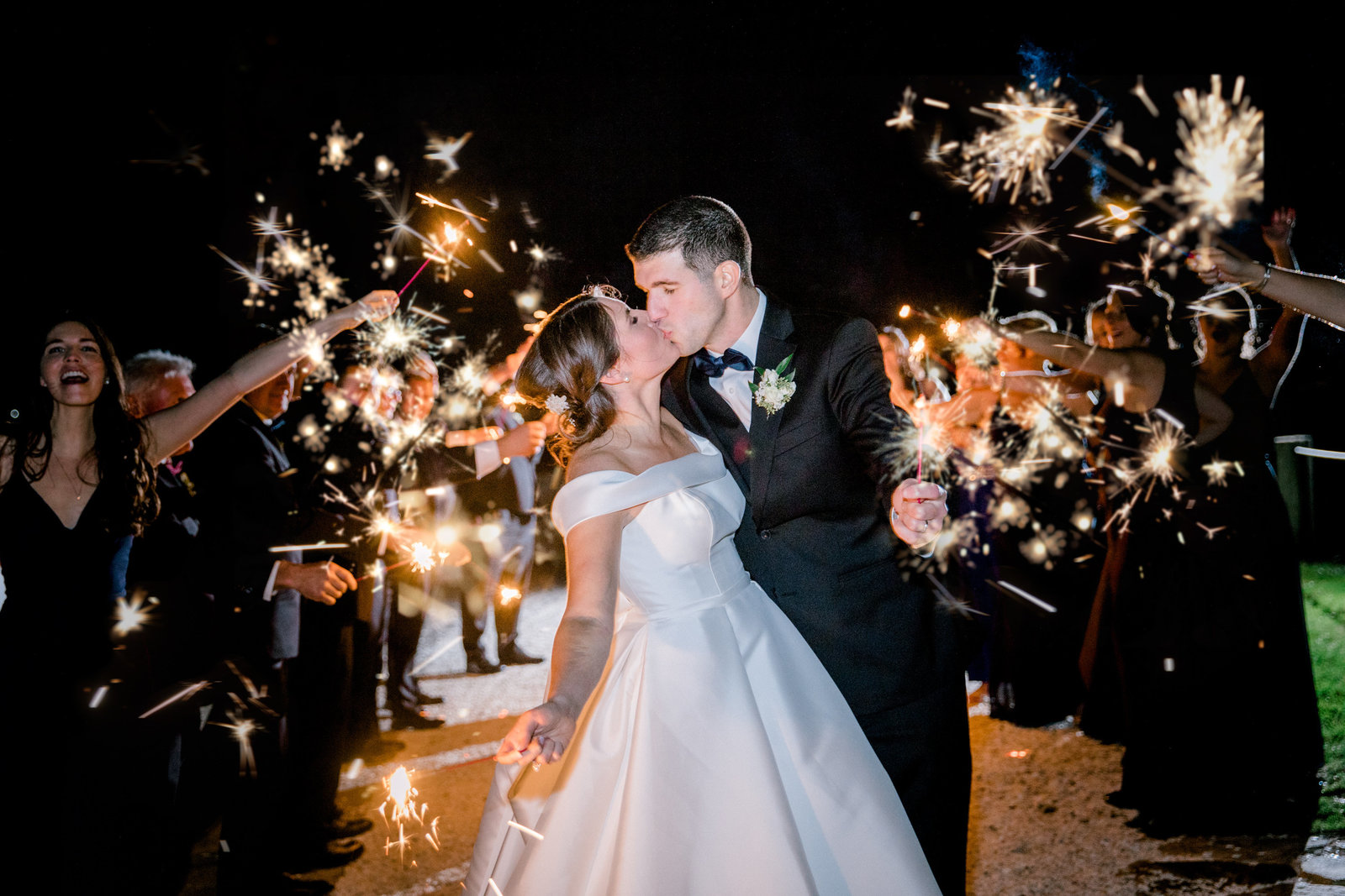 sparkler exit wedding reception