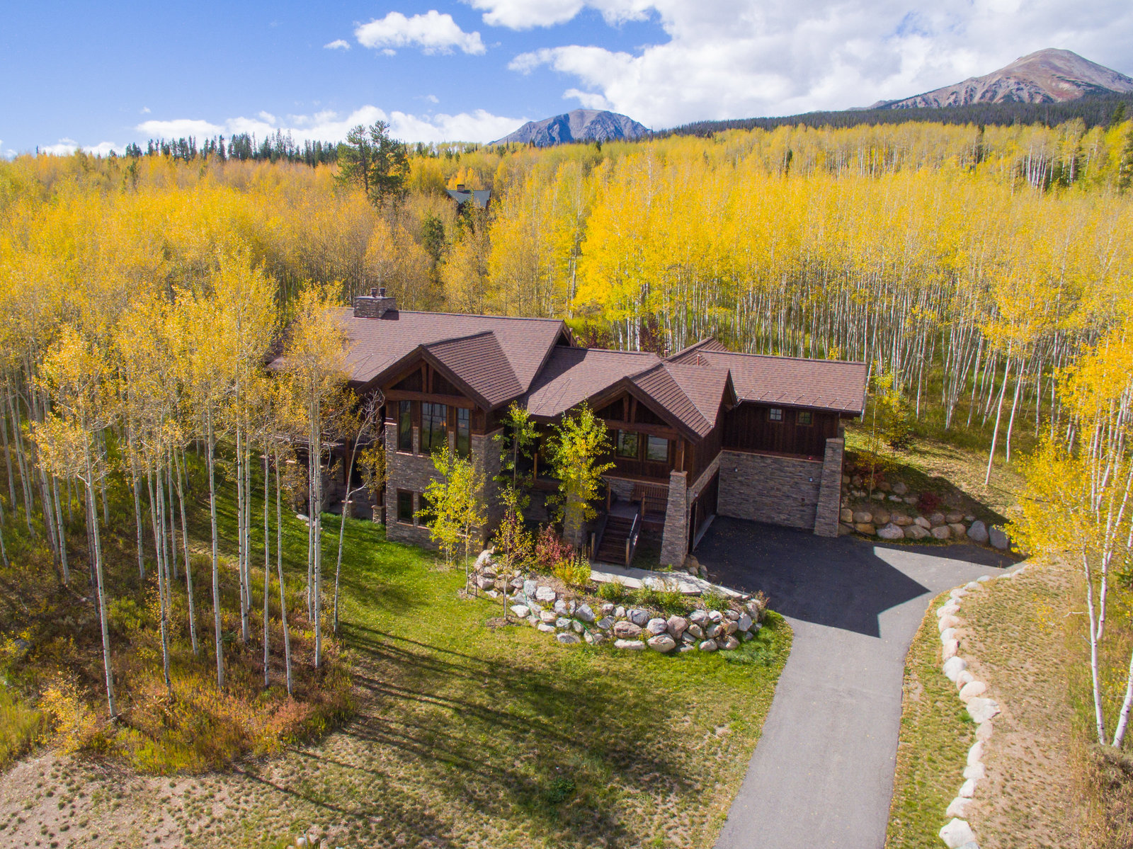 Summit County Colorado Aerial Photo Home 9