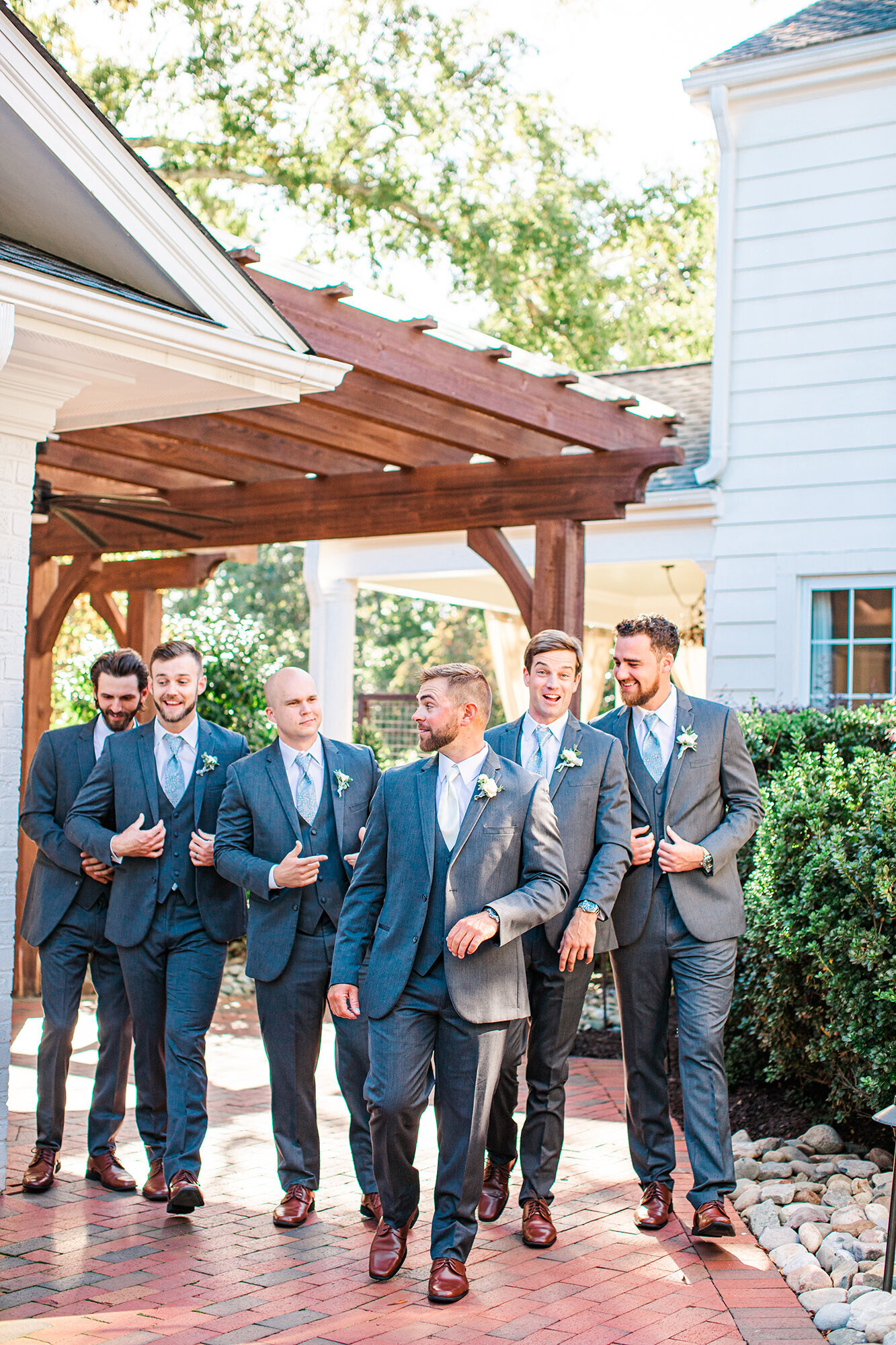 Groomsmen at a Raleigh NC wedding by Tierney Riggs Photography