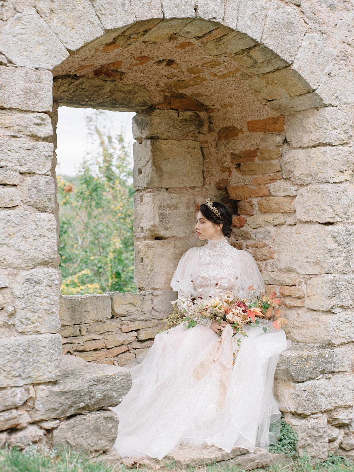 Helianthus-high-neck-puff-sleeve-wedding-dress-JoanneFlemingDesign-CelineChhuonPhoto (87)_WEB