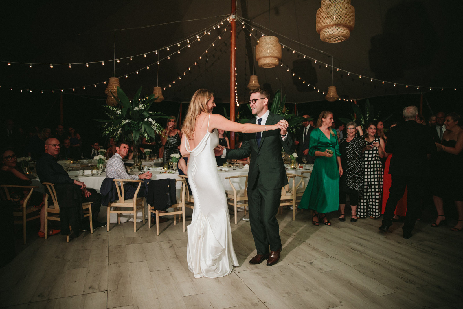 First Dance Tented Home Wedding_Boho Wedding_Darien_Connecticut