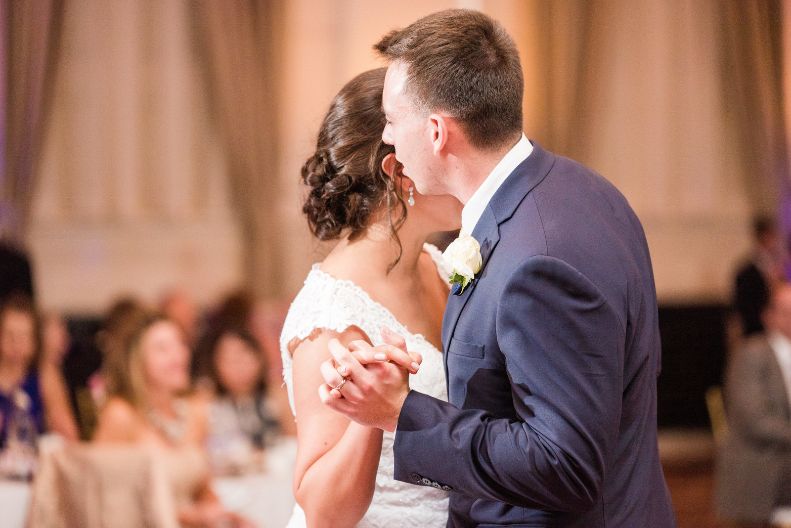 Husband and Wife First Dance Portraits Inn at St Johns Virginia Wedding Photographer