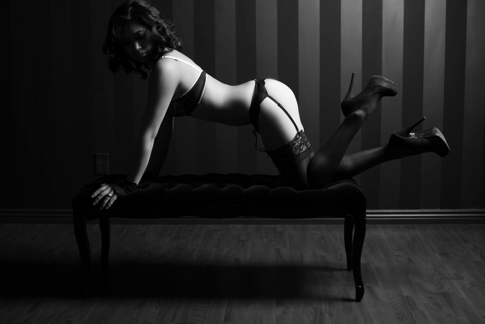 sexy black and white heels, Le Boudoir Studio