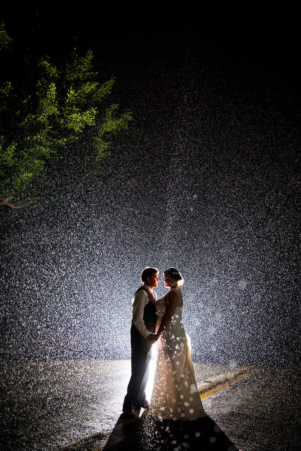 amazing night shot with rain